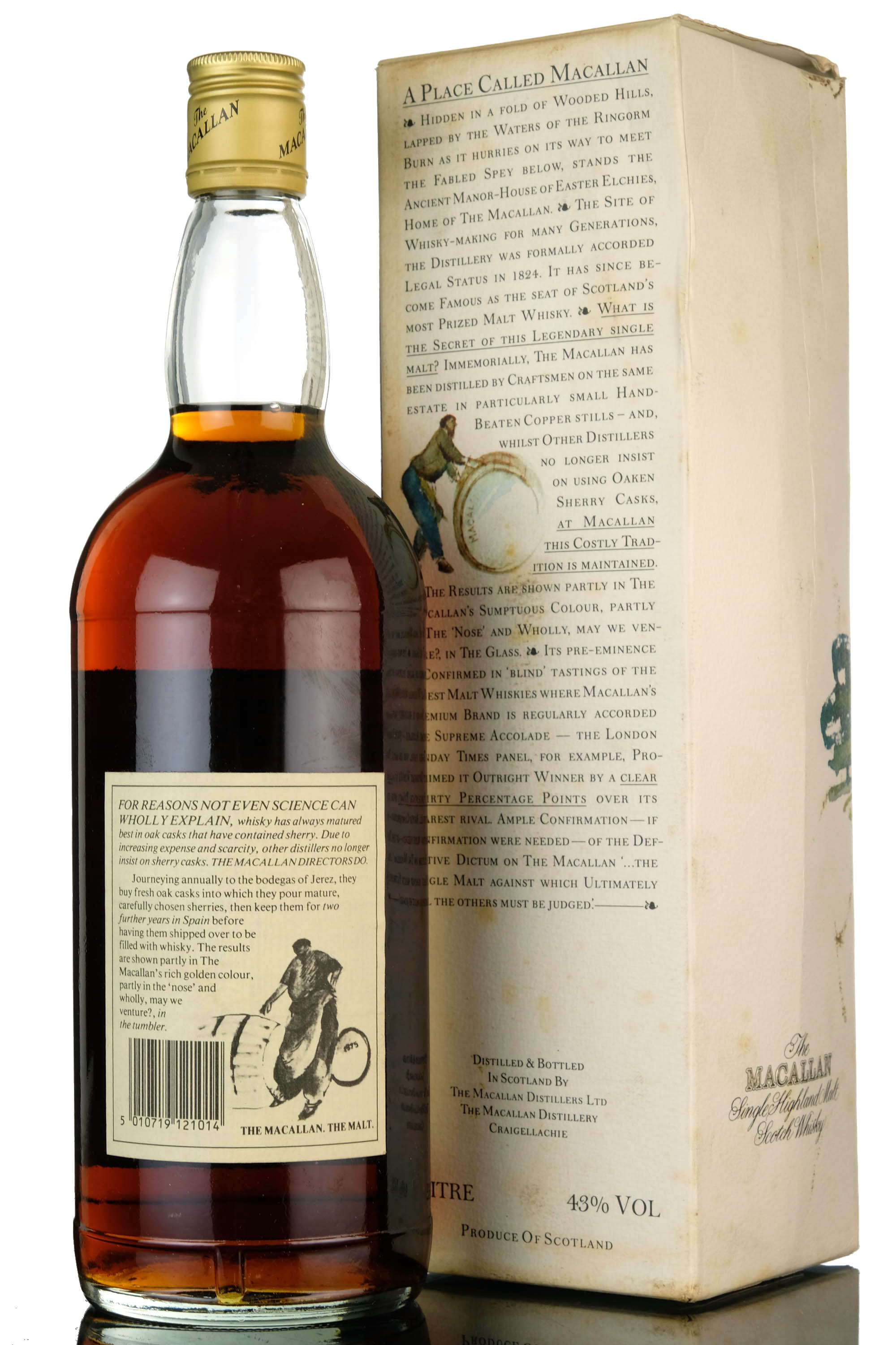 macallan 12 year old - 1980s - 1 litre