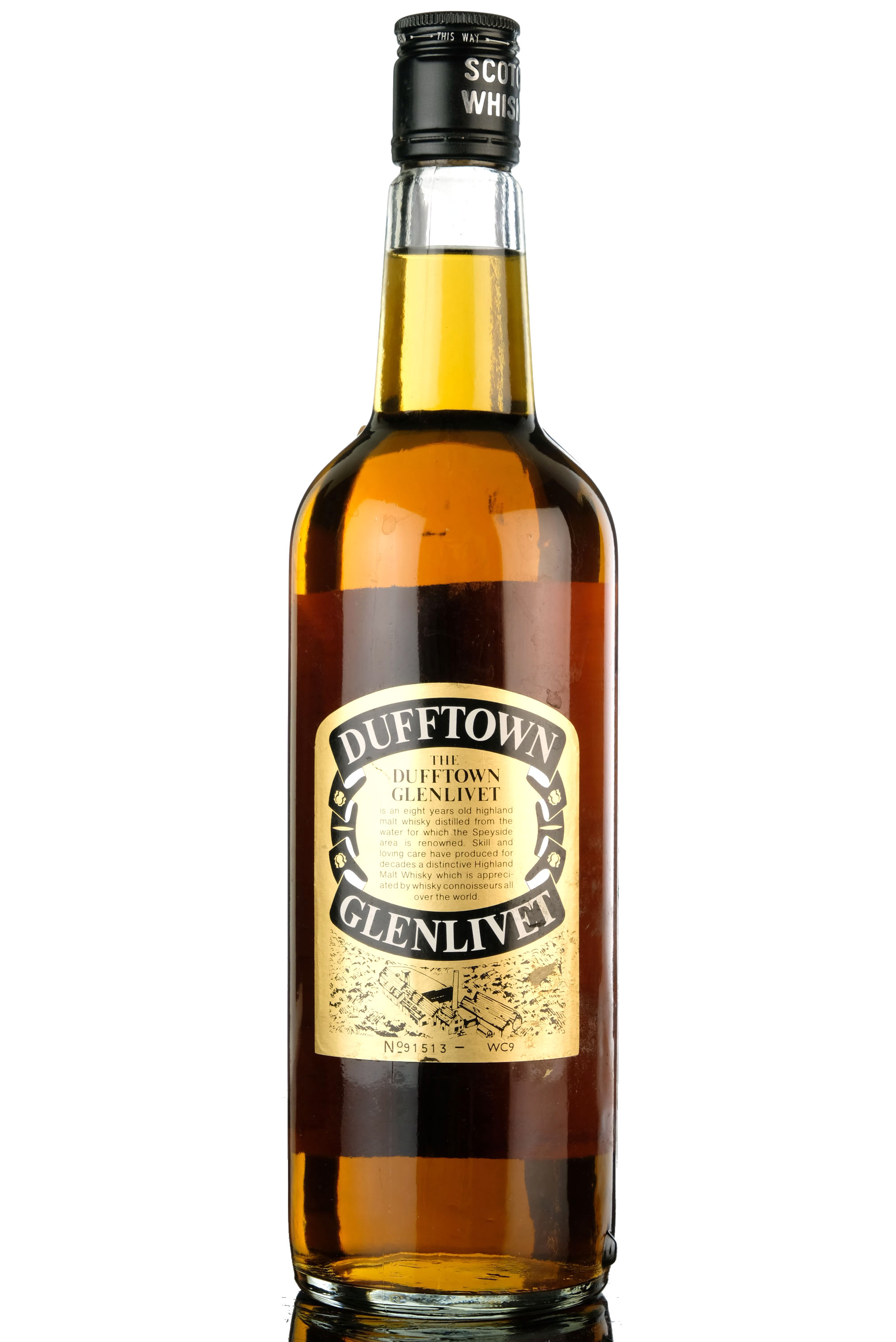 dufftown-glenlivet 8 year old - late 1970s