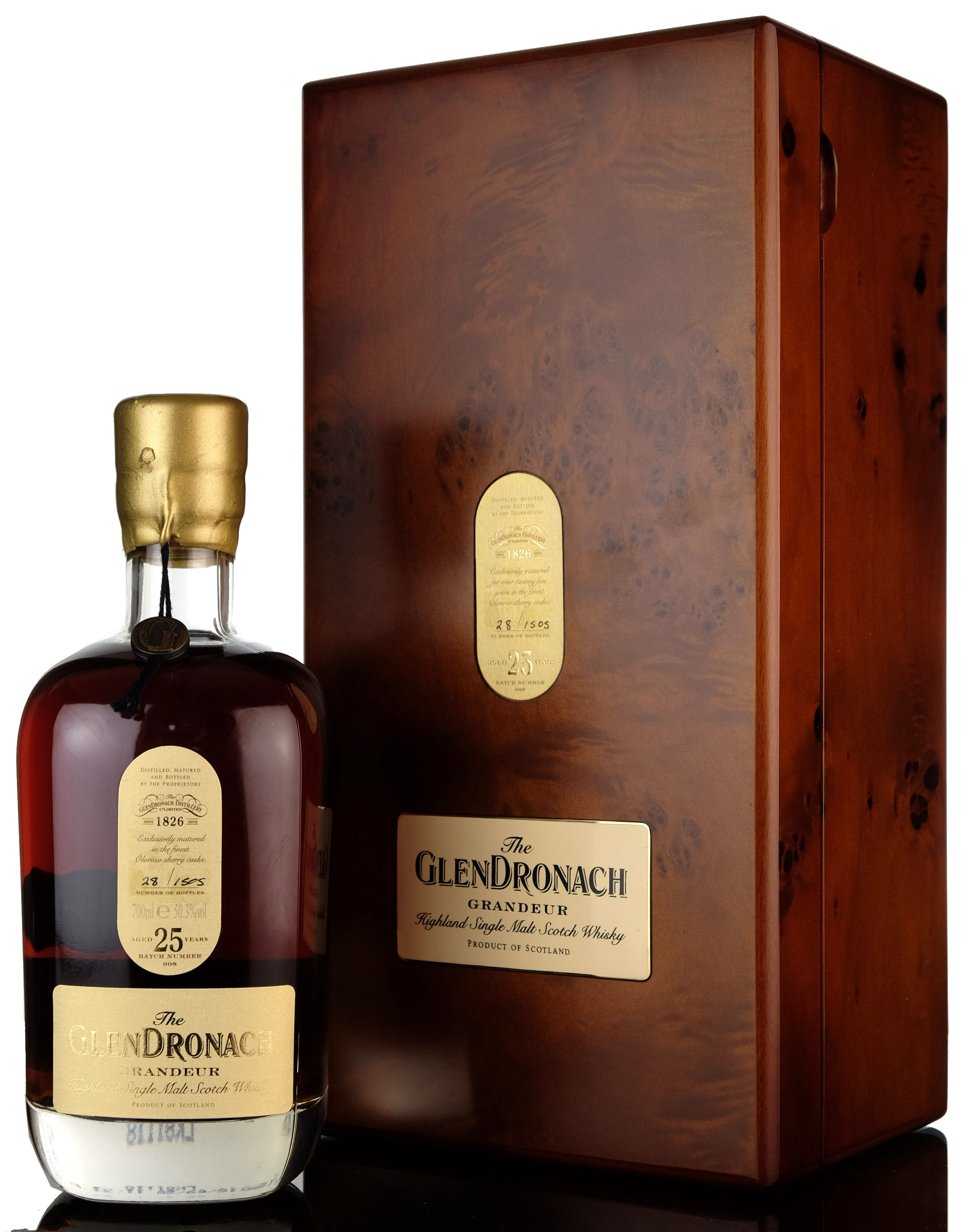 glendronach 25 year old - grandeur batch 8