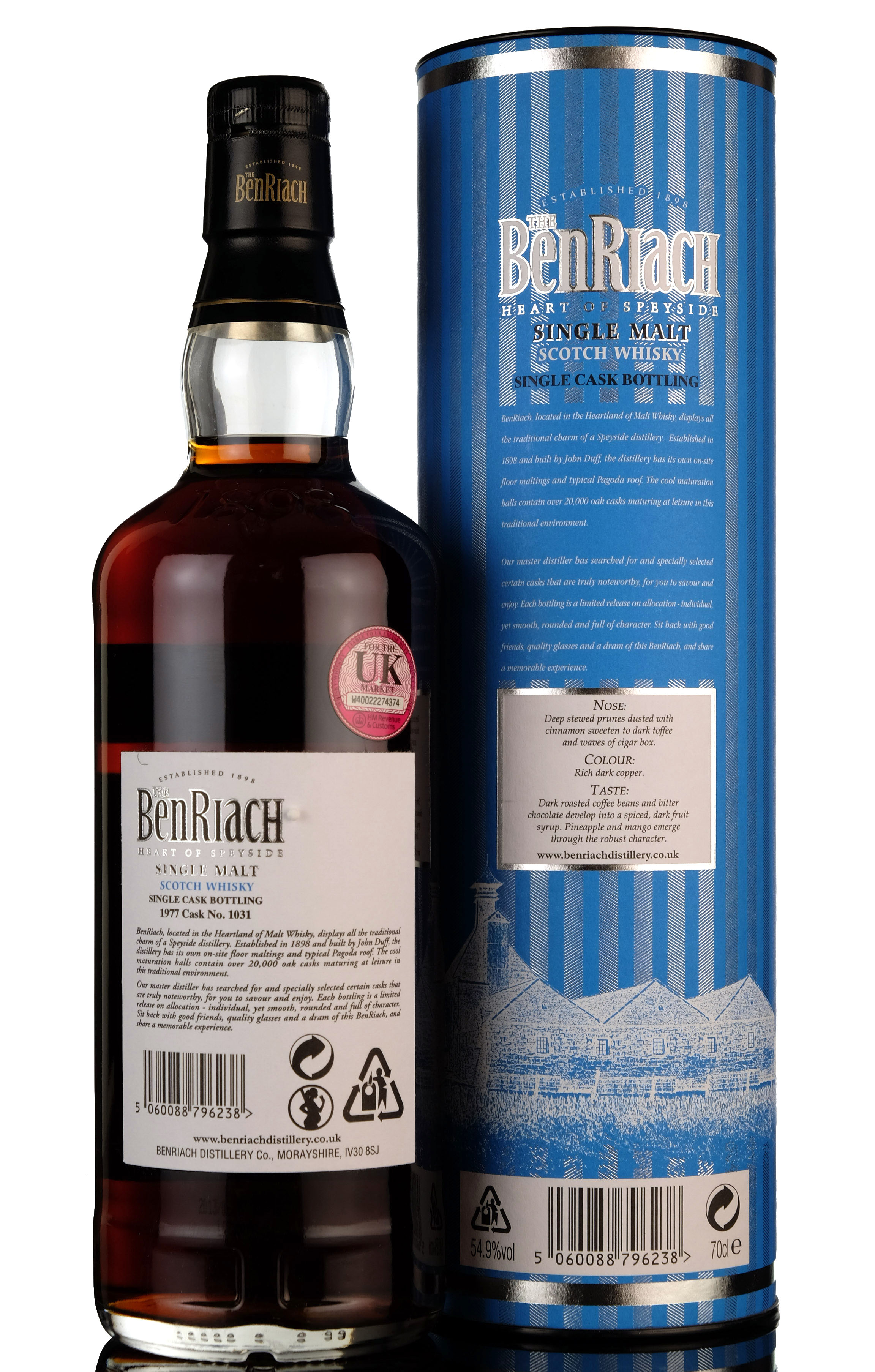 benriach 1977-2013 - 36 year old - single cask 1031