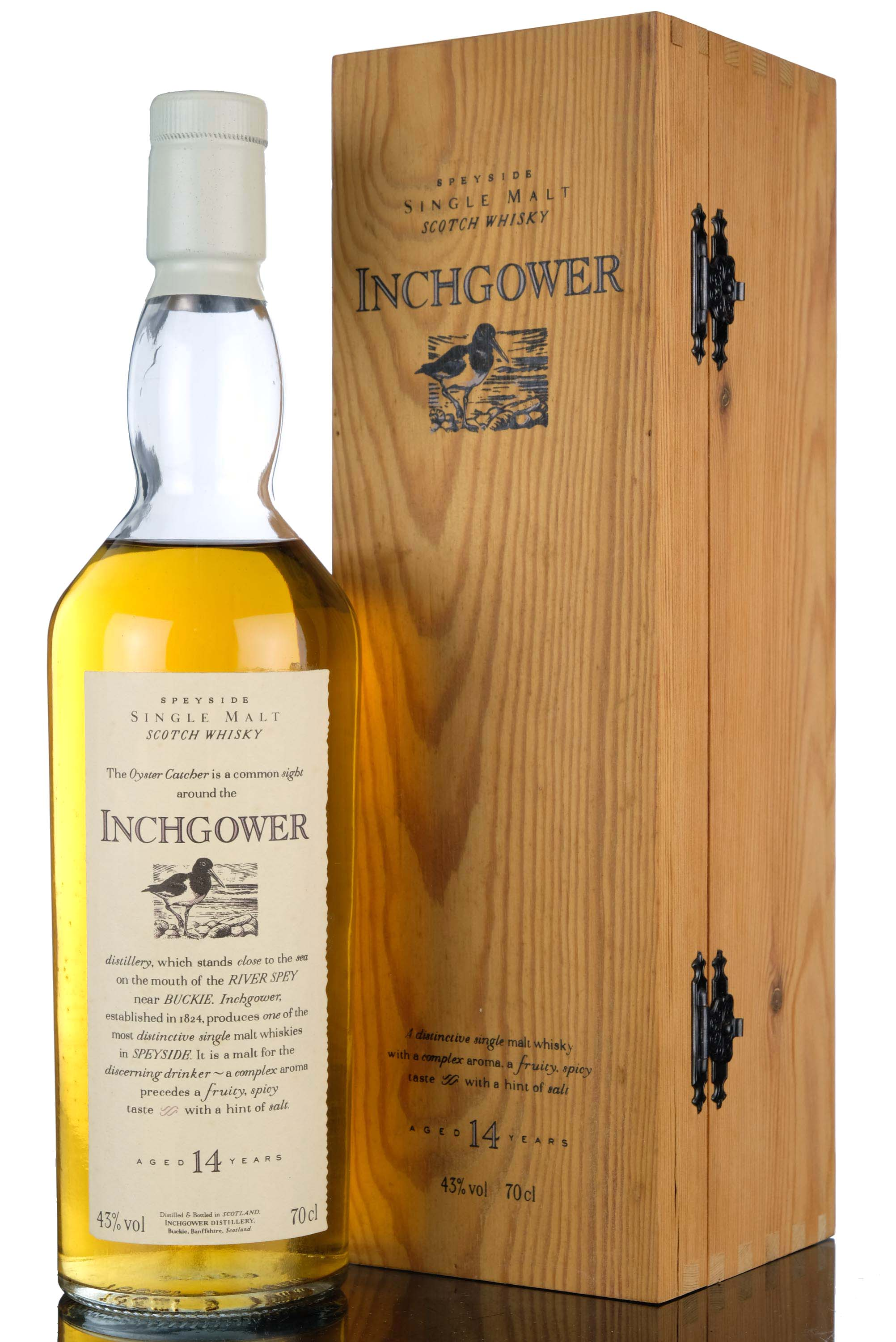inchgower 14 year old - flora & fauna - white capsule