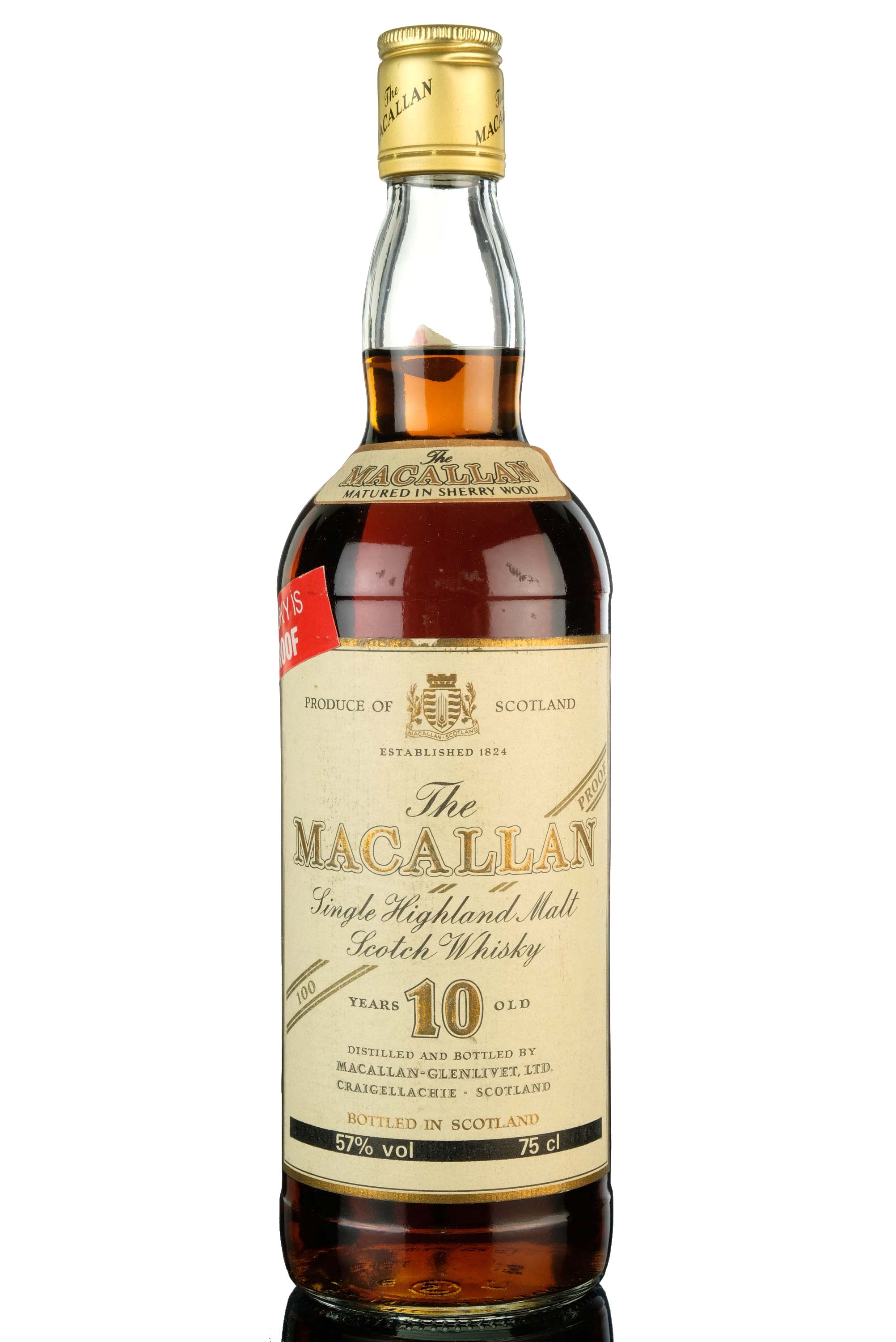 macallan 10 year old - 100 proof - 1980s