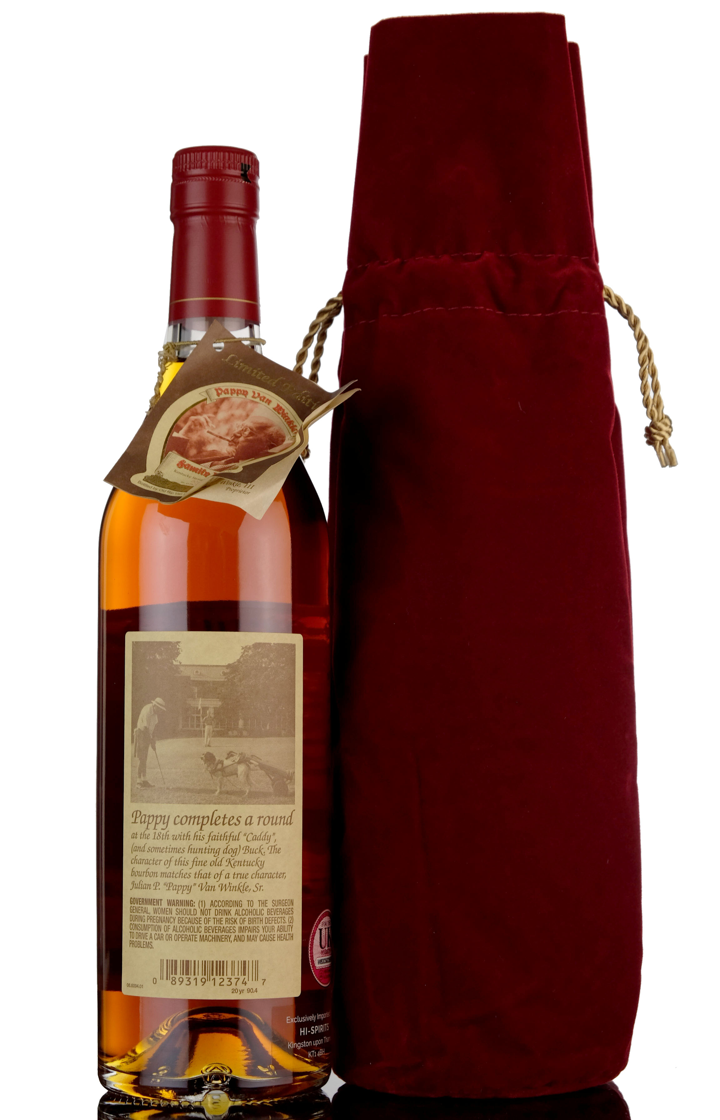 pappy van winkles family reserve - 20 year old - kentucky straight bourbon whiskey - 2018