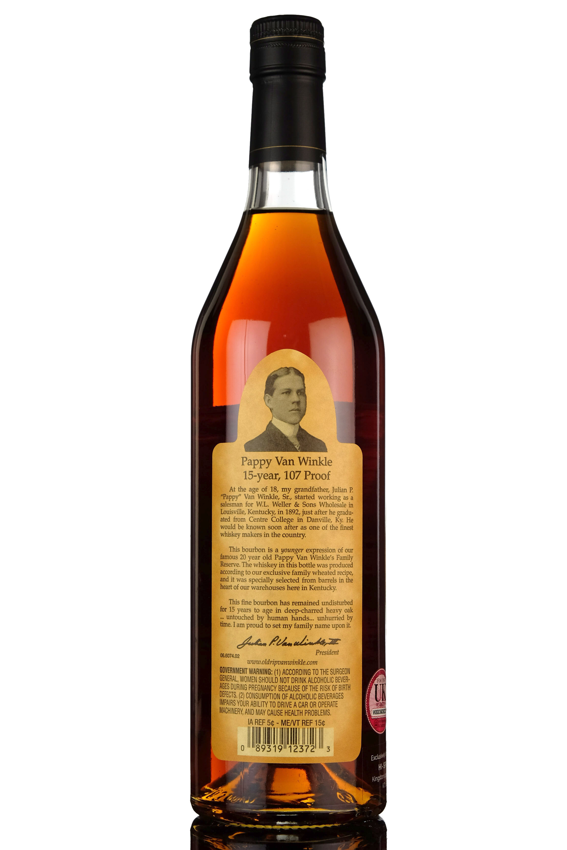 pappy van winkles family reserve - 15 year old - kentucky straight bourbon whiskey