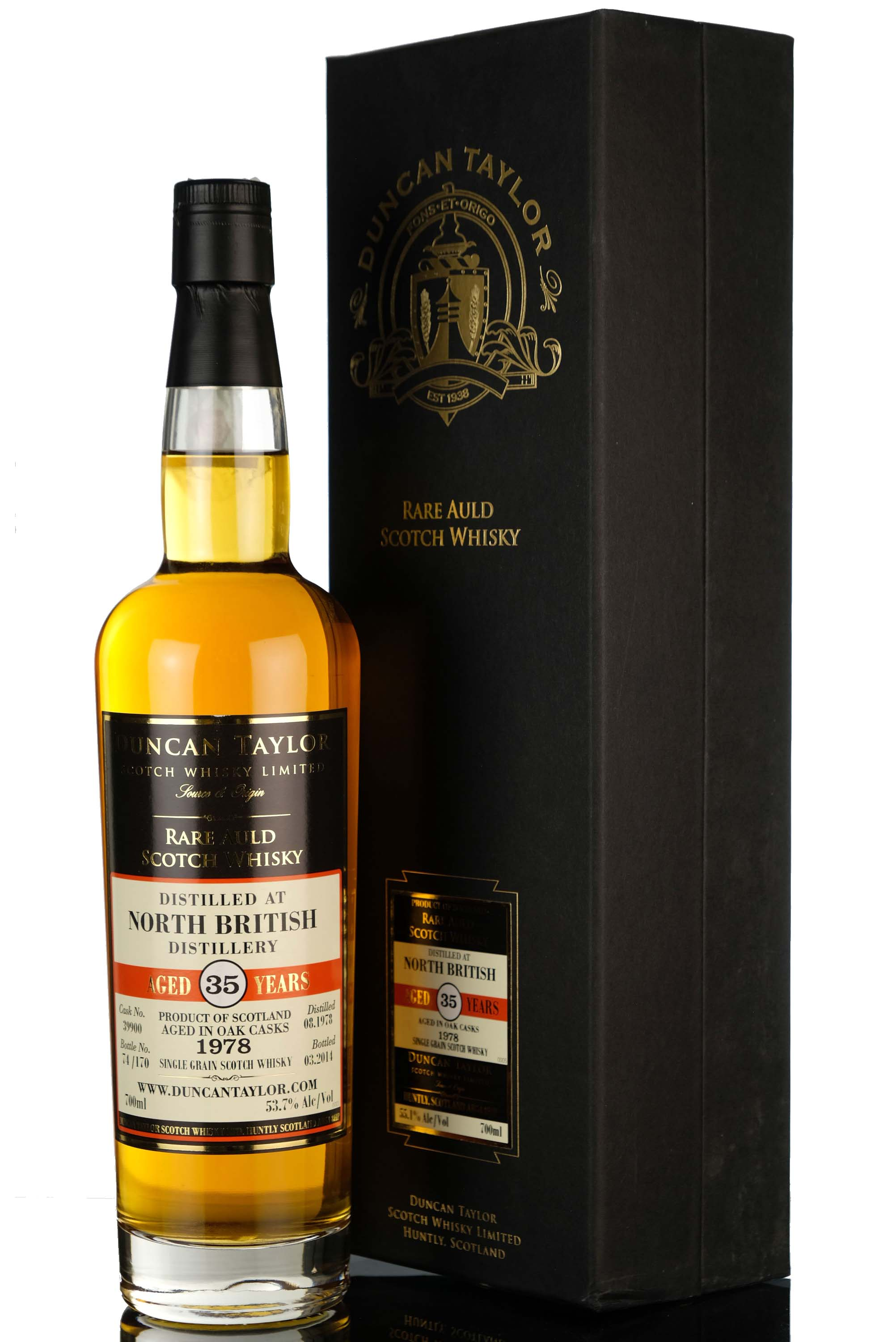 north british 1978-2014 - 35 year old - duncan taylor - rare auld - single cask 39900