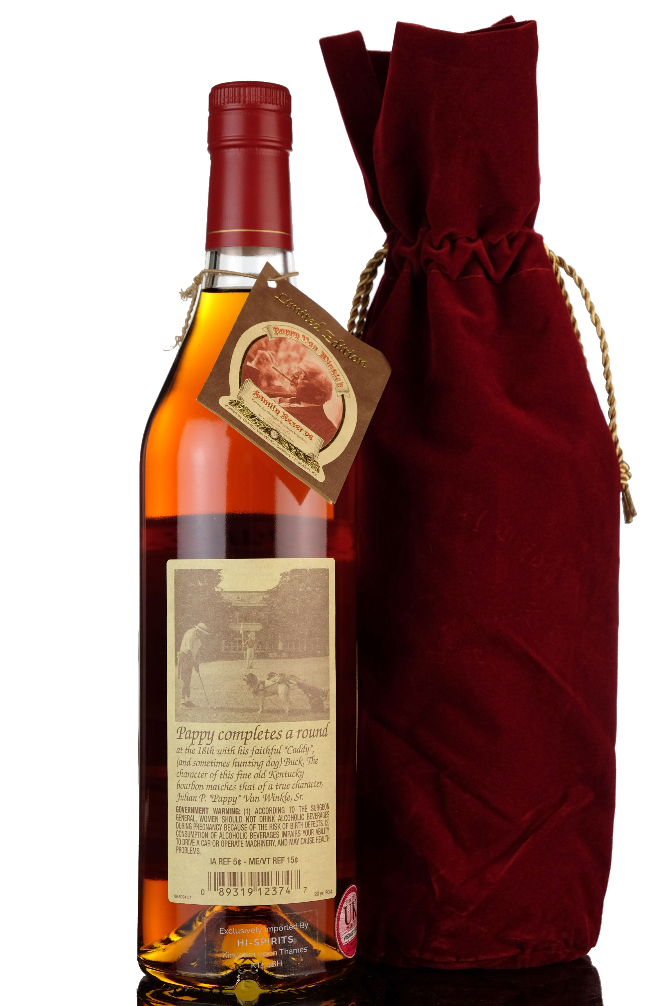 pappy van winkles family reserve - 20 year old - kentucky straight bourbon whiskey - 2019