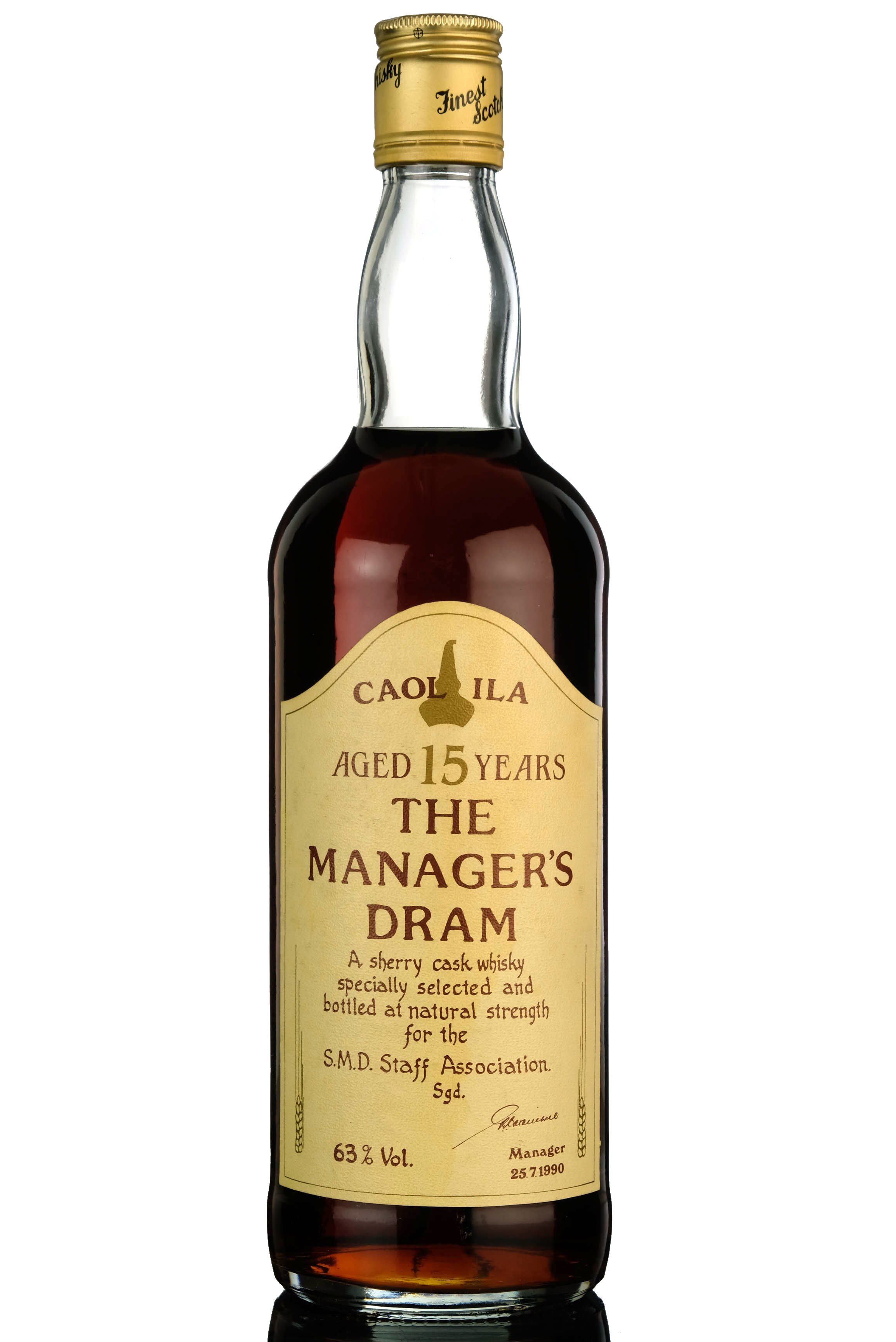 caol ila 15 year old - managers dram 1990