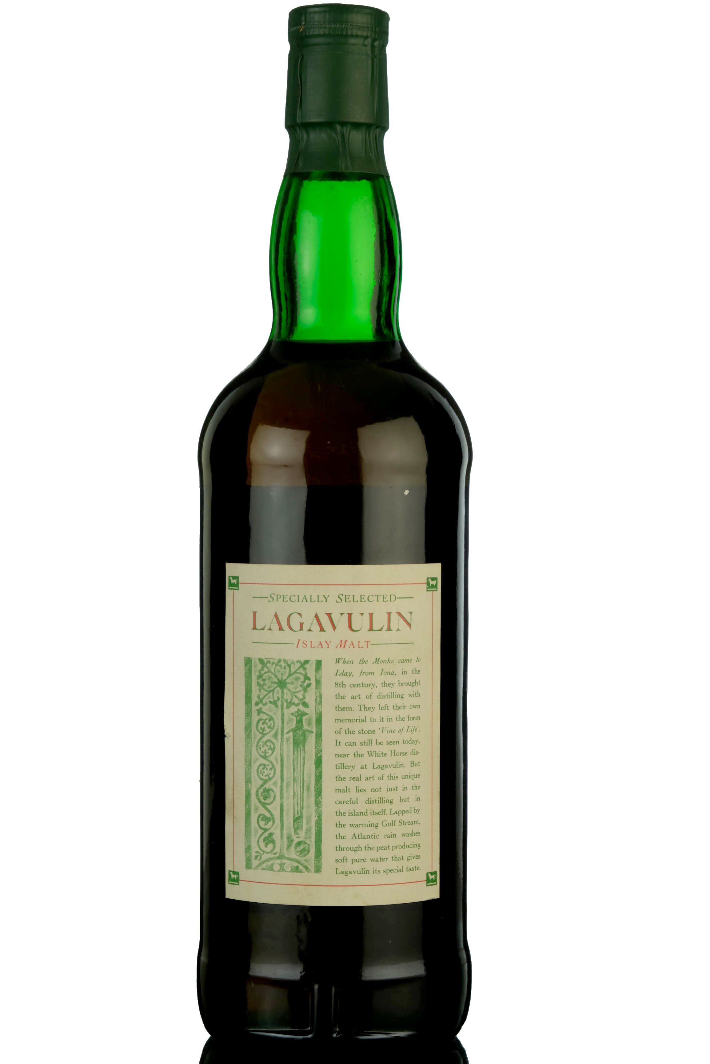 lagavulin 12 year old - white horse - 1980s