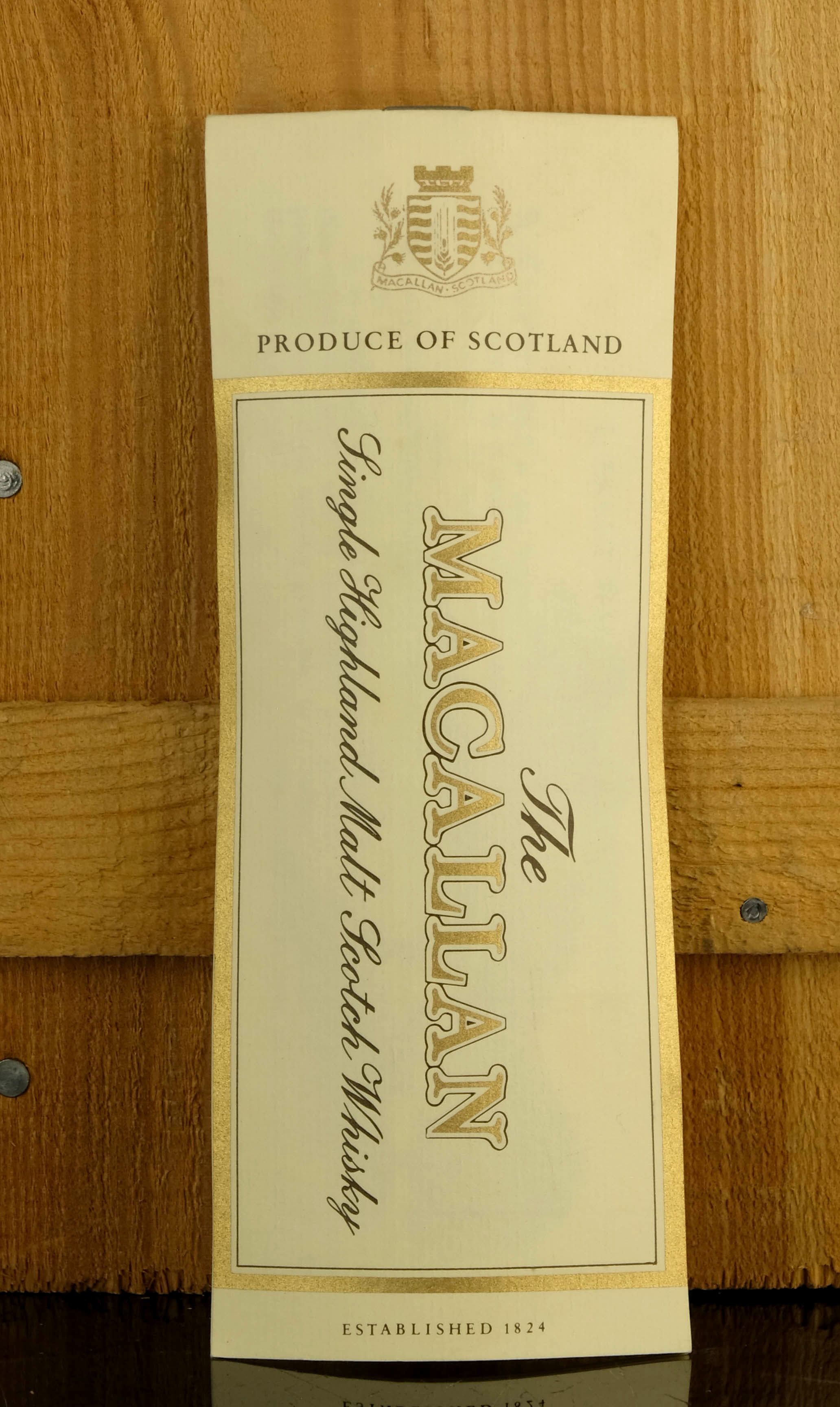 macallan 1950 - atkinson baldwin & co - handwritten label