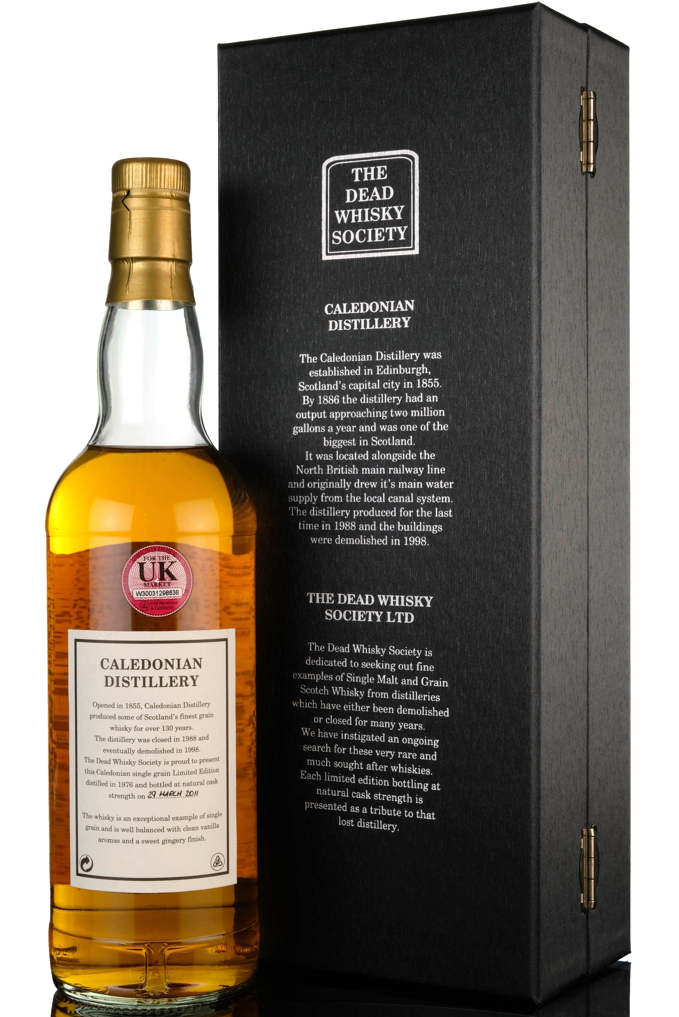 caledonian 1976-2011 - 34 year old - dead whisky society