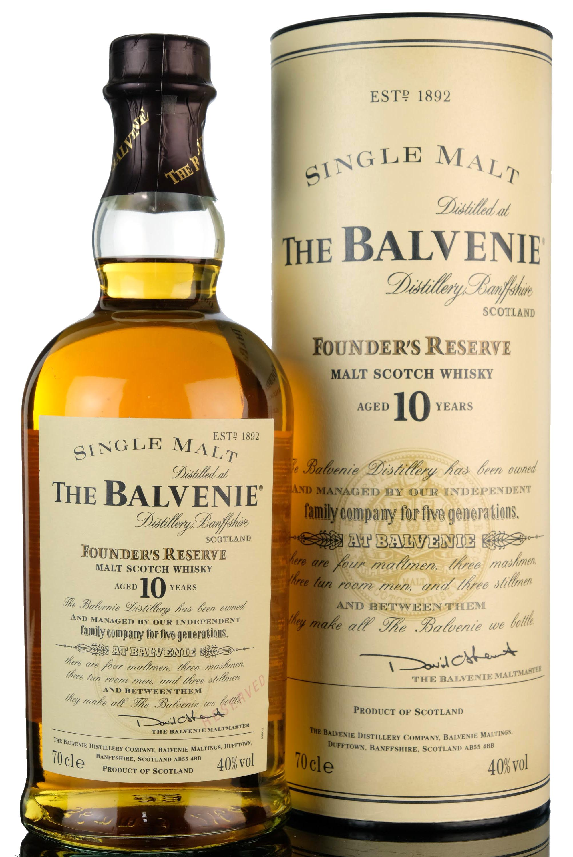 balvenie 10 year old - founders reserve