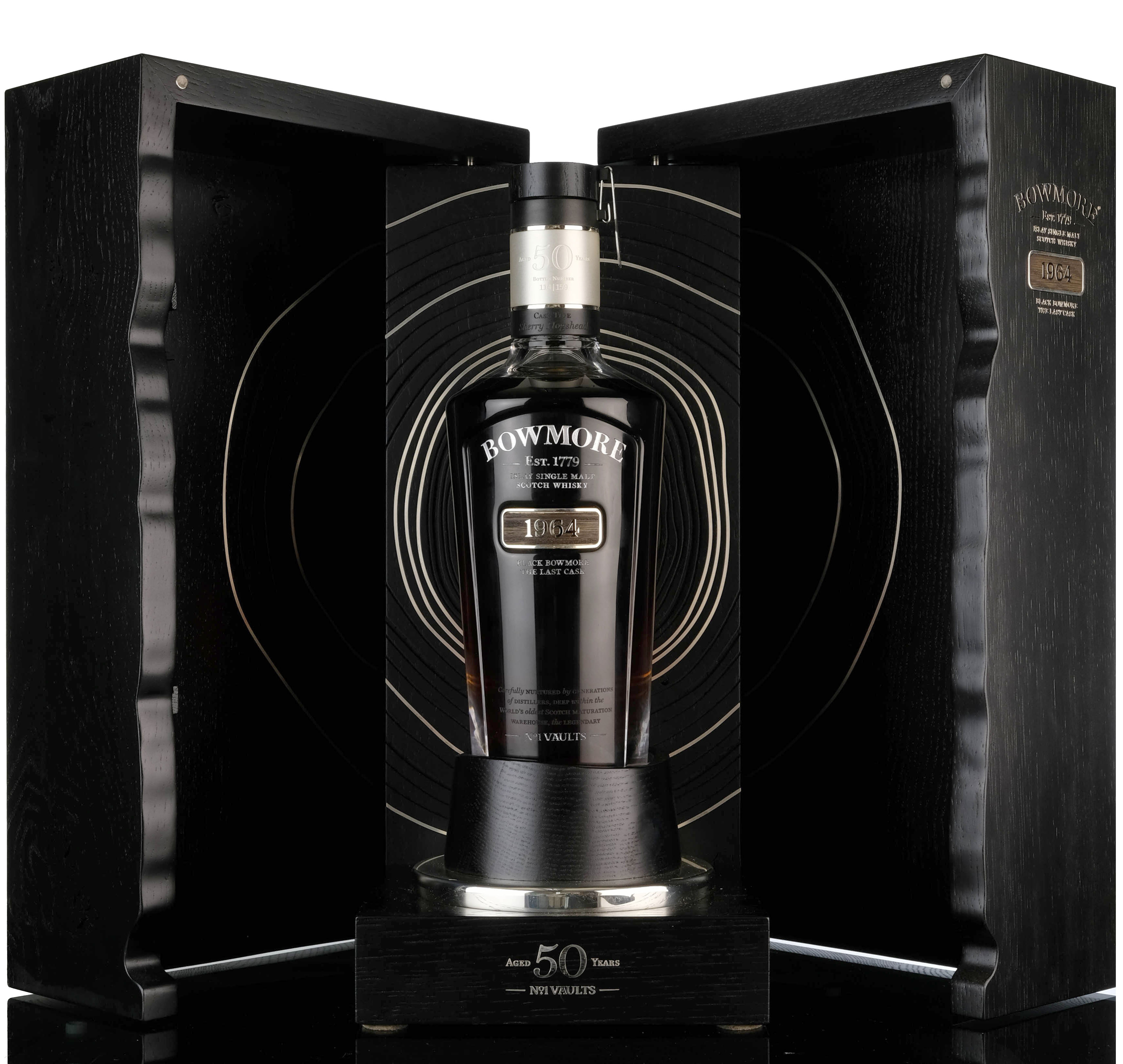 black bowmore 1964 - 50 year old - the last cask