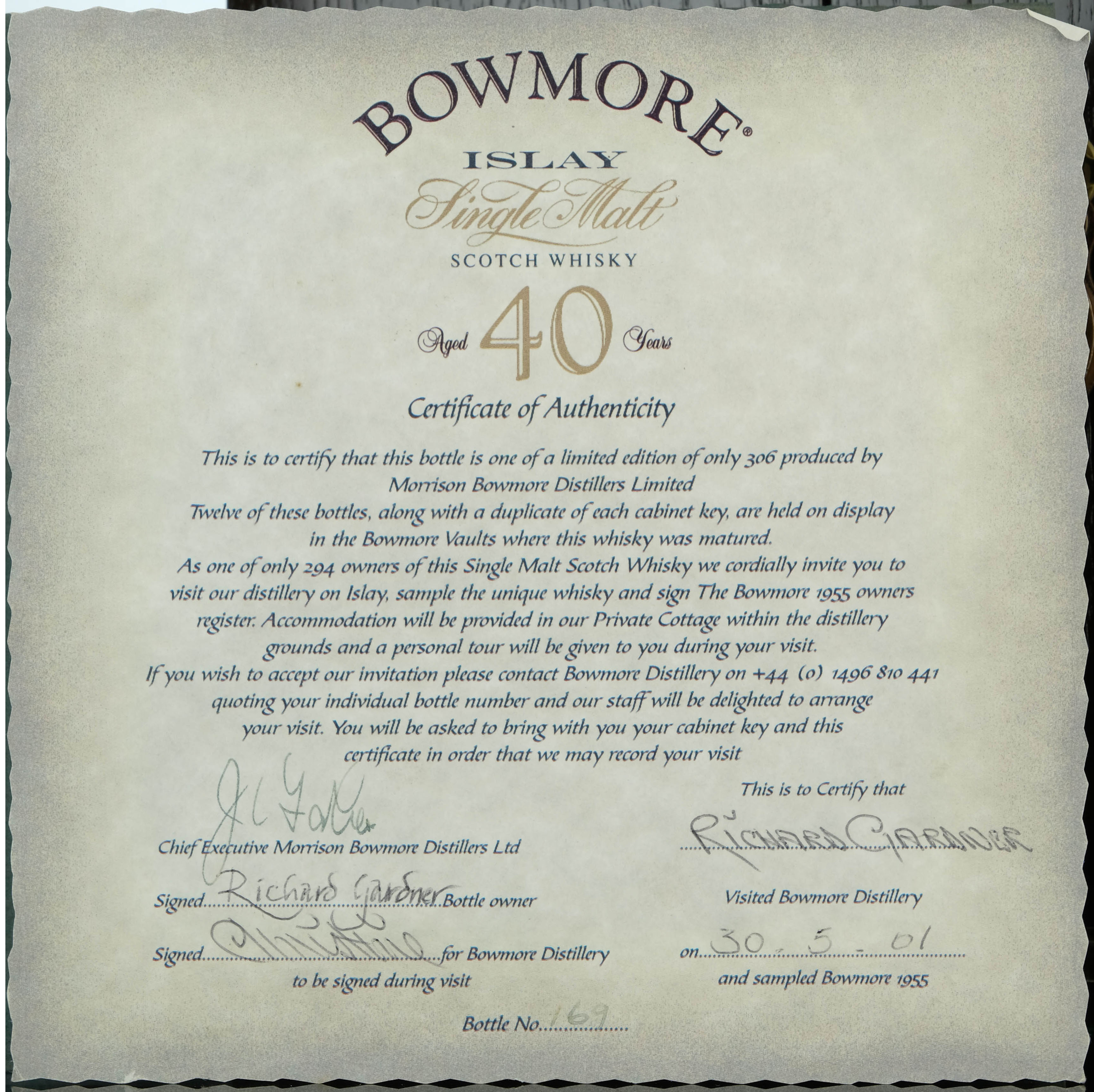 bowmore 1955-1995 - 40 year old
