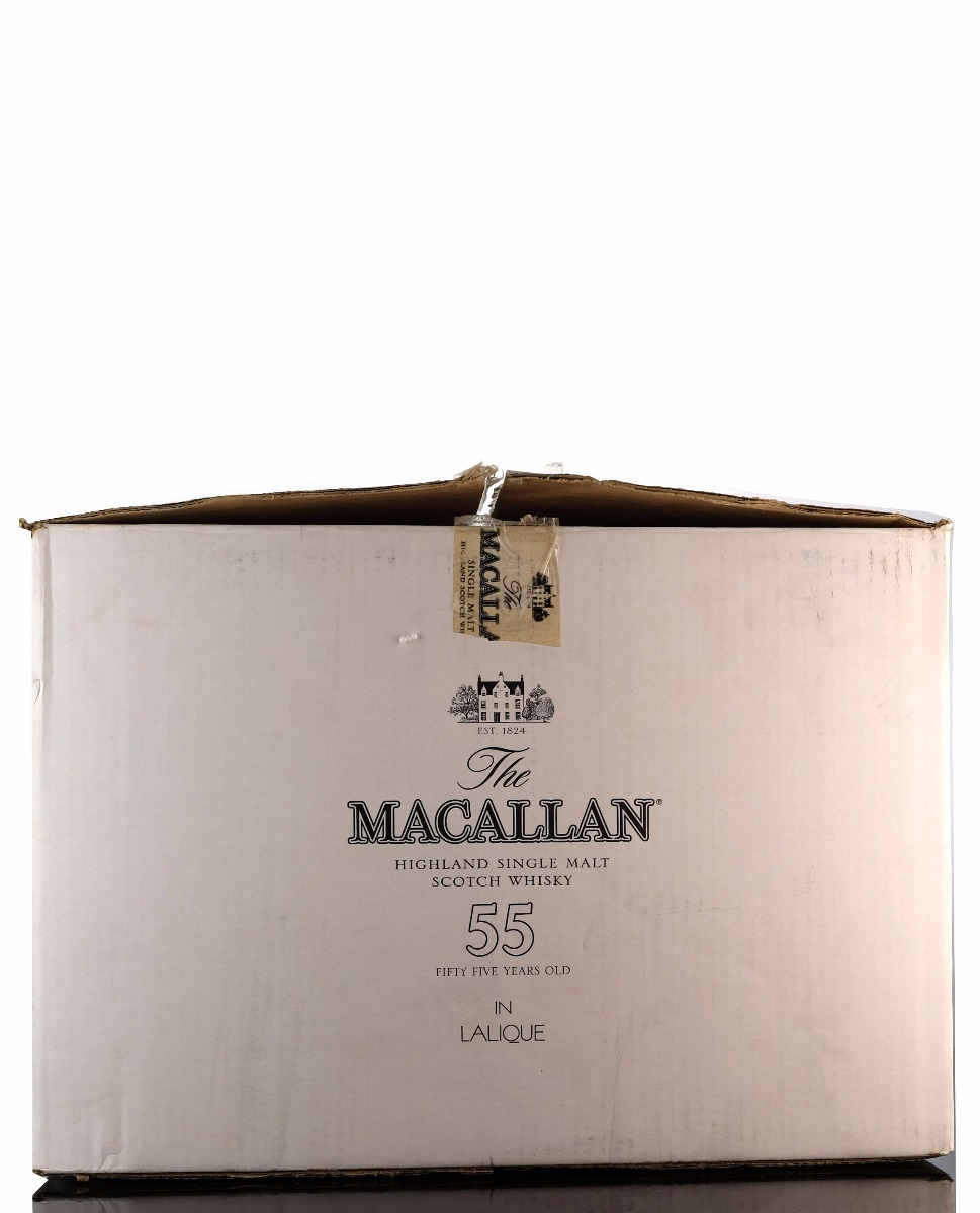 macallan 55 year old - lalique decanter - second release