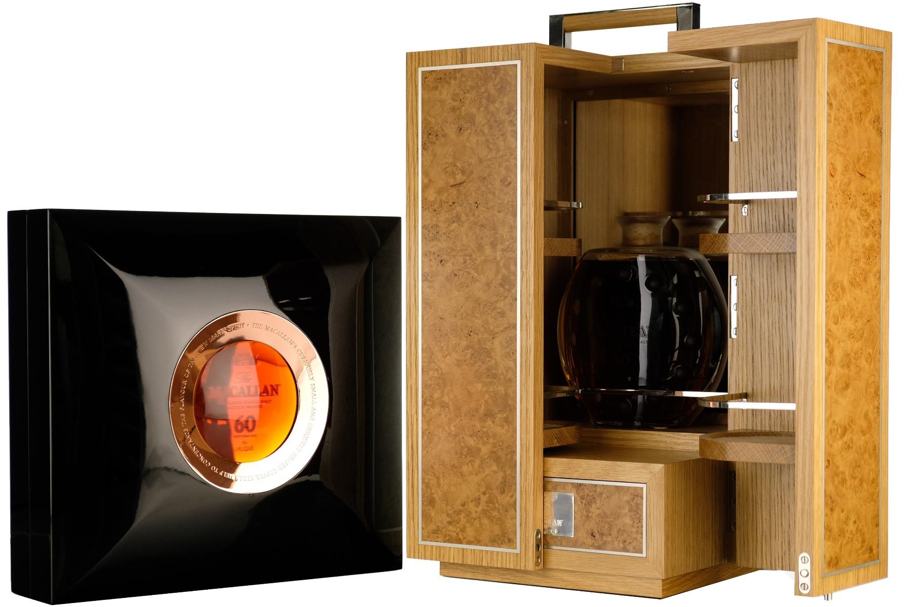 macallan 60 year old - lalique linley edition - 1 of only 3