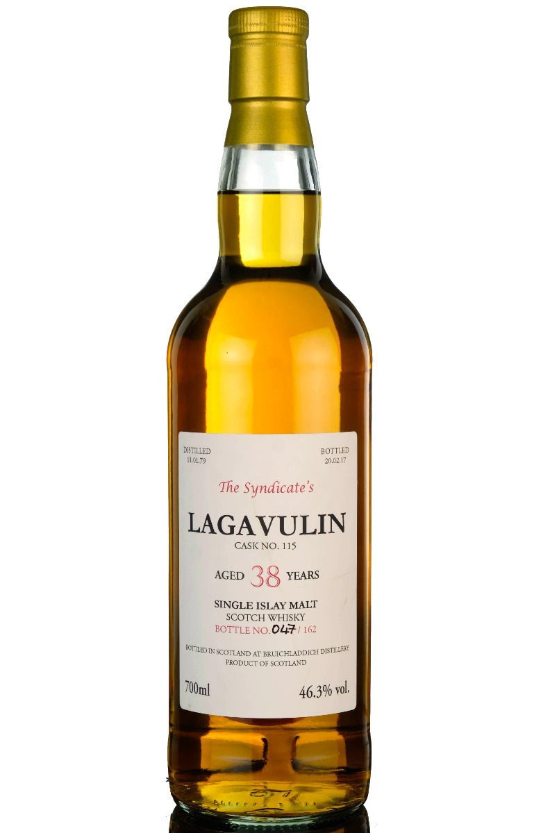 lagavulin 1979-2017 - 38 year old - the syndicate - 162 bottles