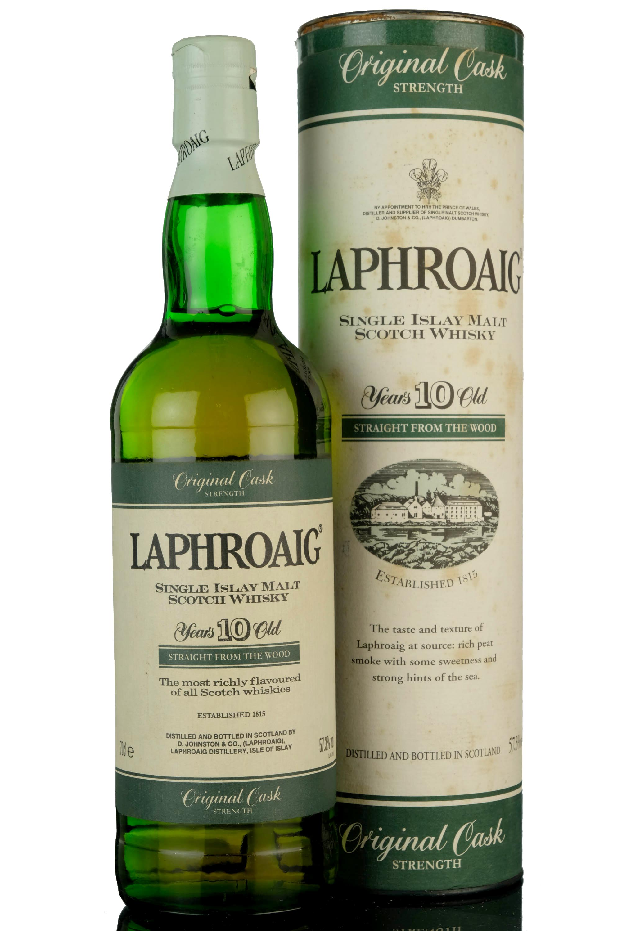 laphroaig 10 year old - original cask strength - 57.3%
