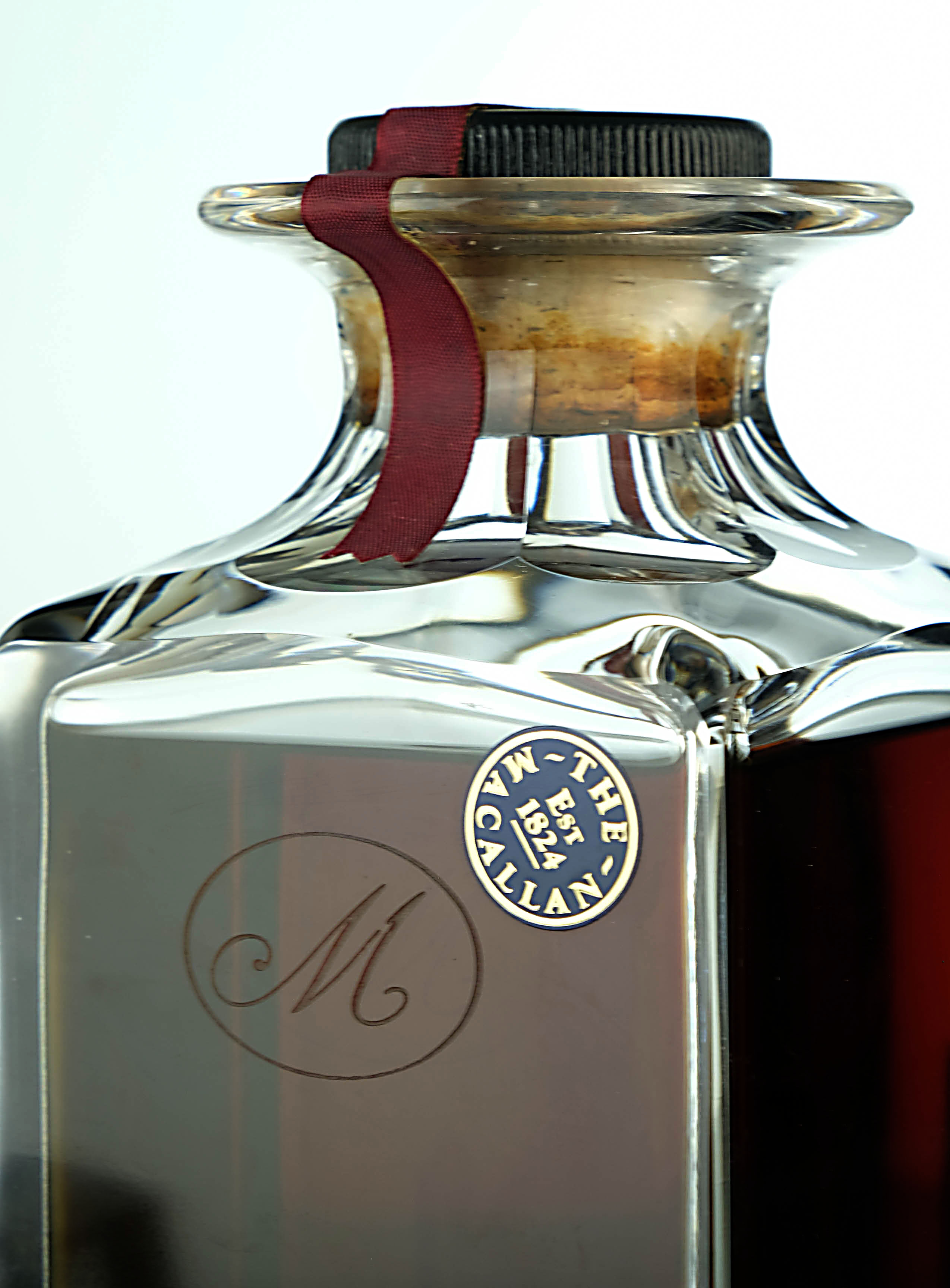 macallan 1965 - 25 year old - crystal decanter