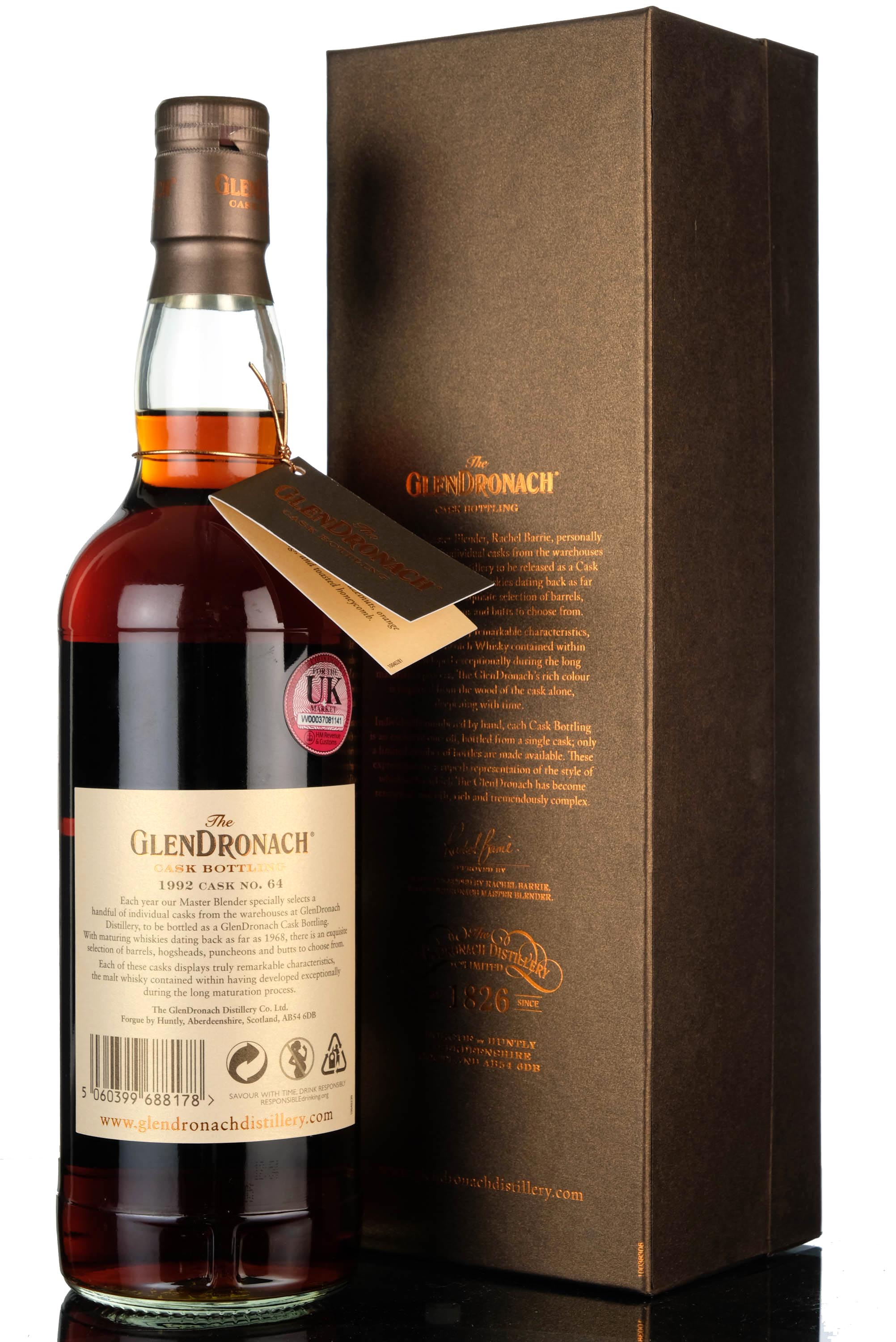 glendronach 1992-2018 - 26 year old - single cask 64 - the whisky shop