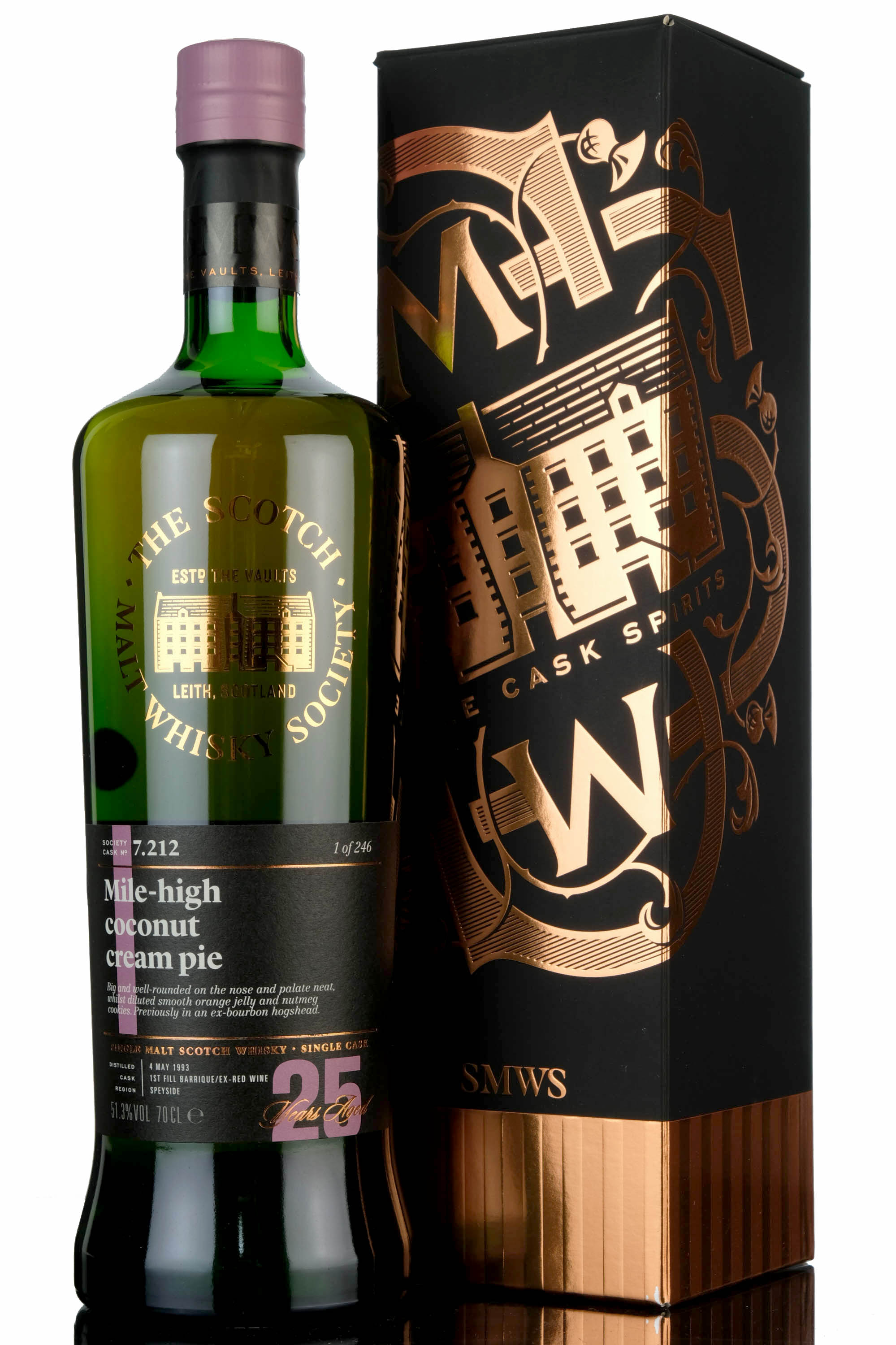 longmorn 1993 - 25 year old - smws 7.212 - mile-high coconut cream pie