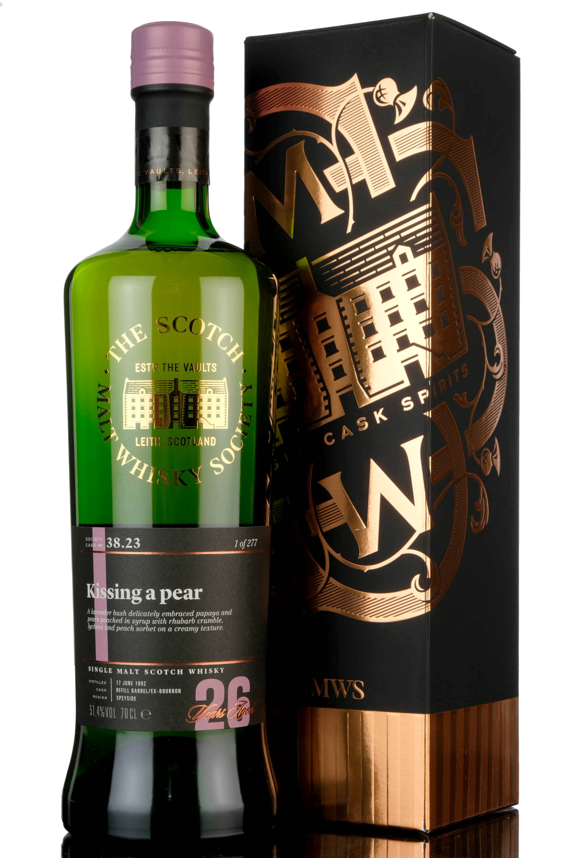 caperdonich 1992 - 26 year old - smws 38.23 - kissing a pear