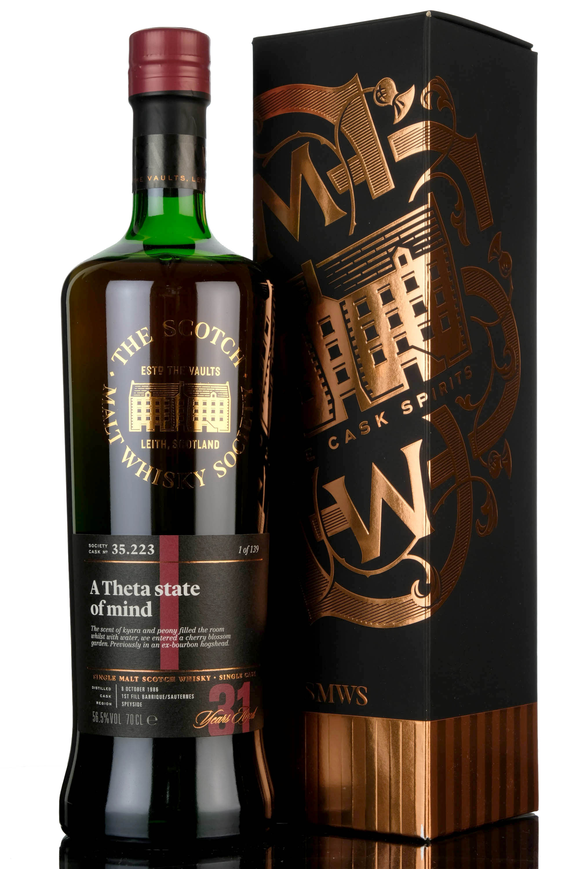 glen moray 1986 - 31 year old - smws 35.223 - a theta state of mind