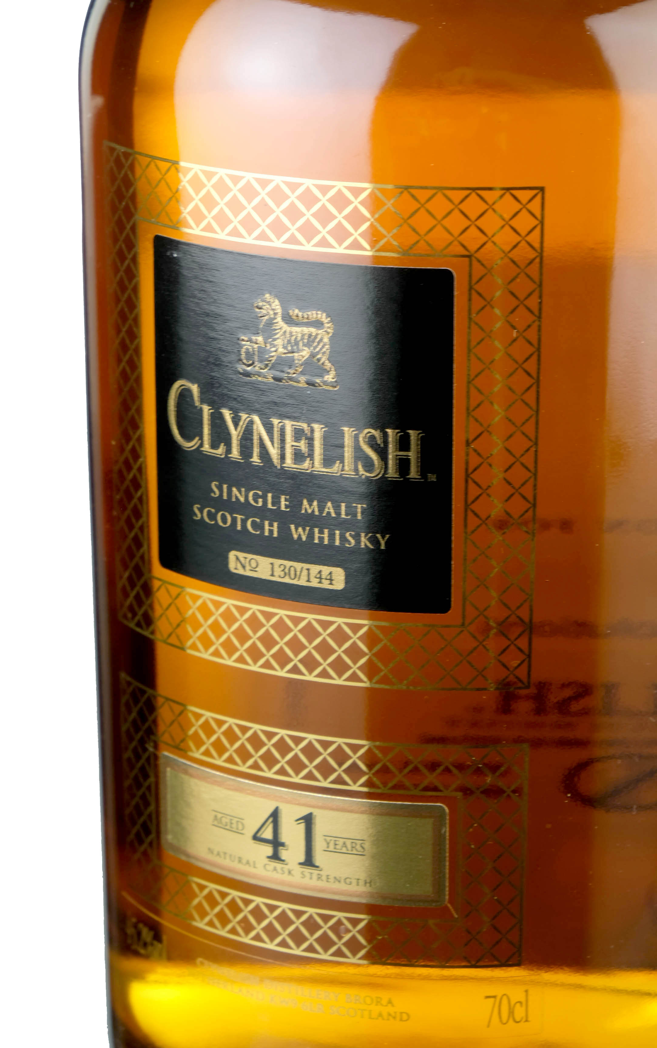 clynelish 41 year old - single cask - 144 bottles