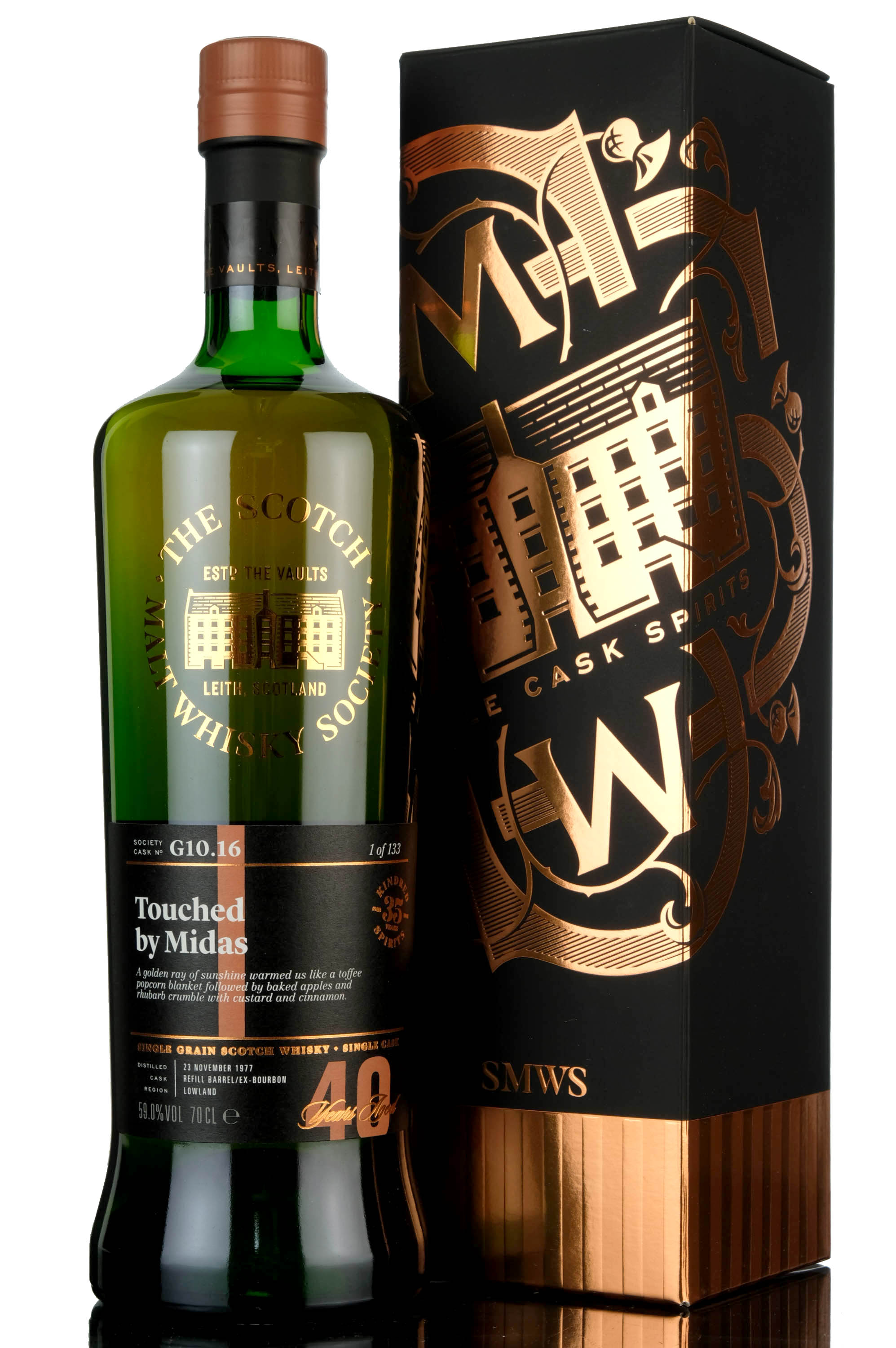 strathclyde 1977 - 40 year old - smws g10.16 - touched by midas