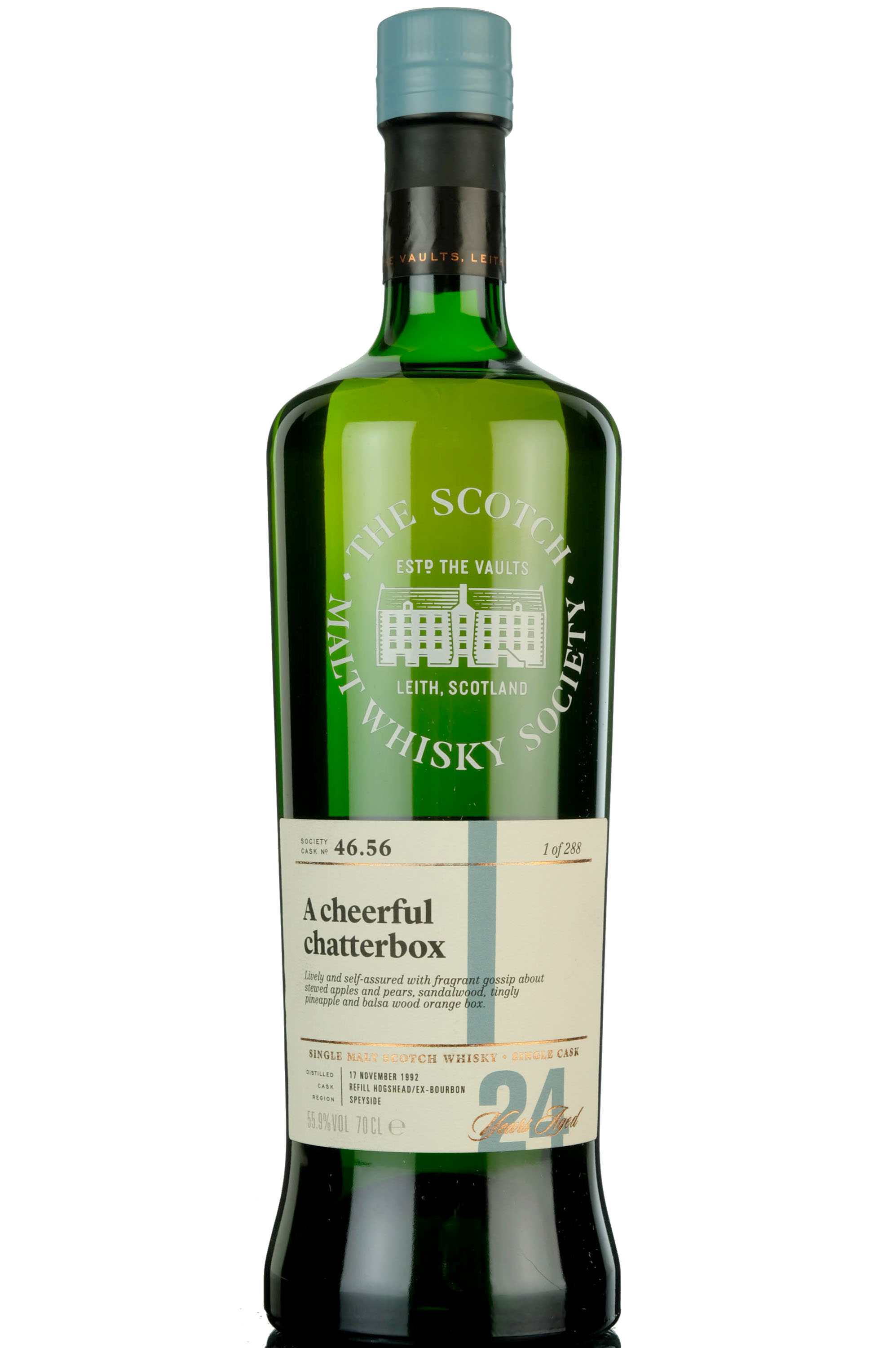 glenlossie 1992 - 24 year old - smws 46.56 - a cheerful chatterbox