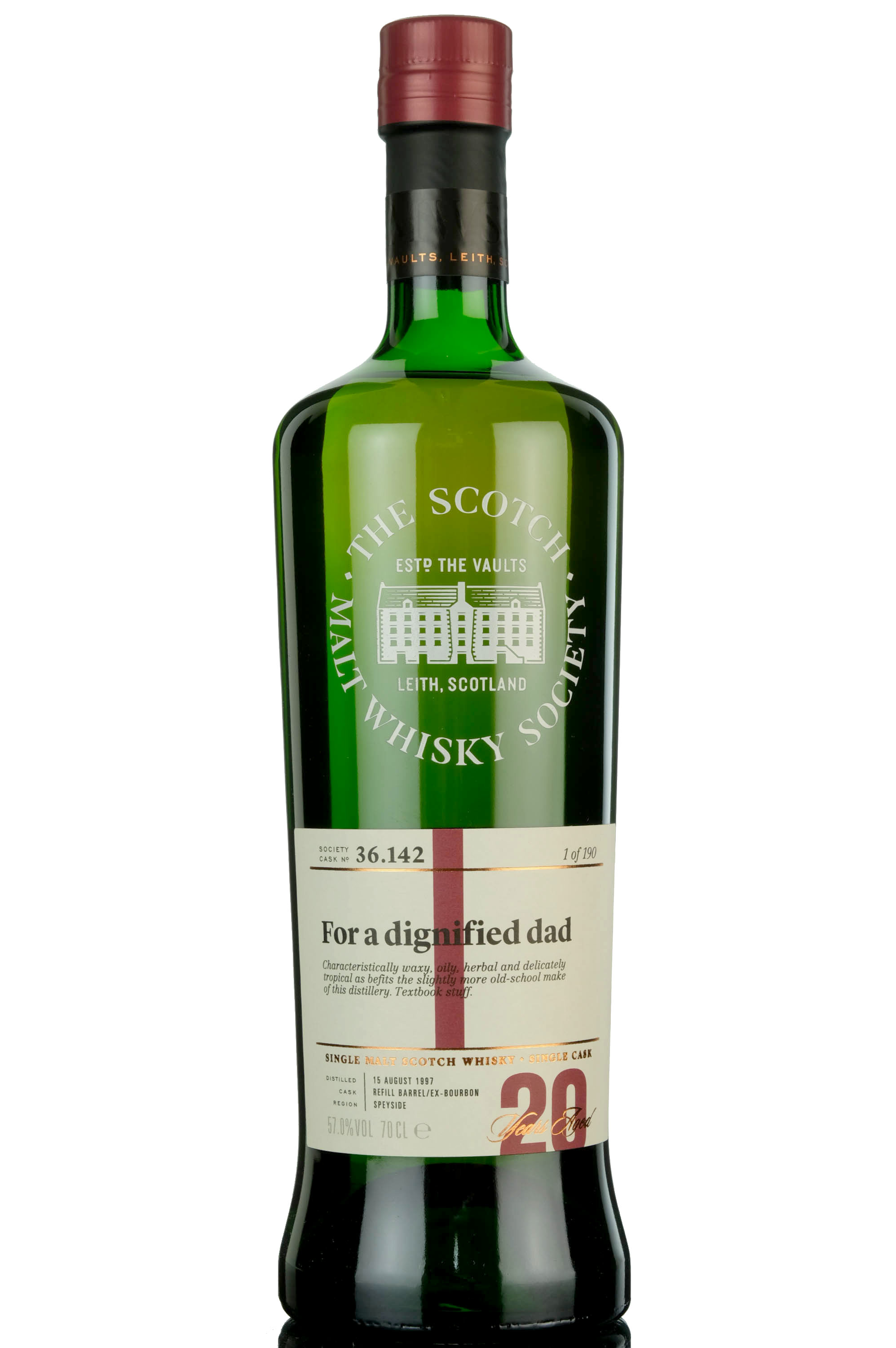 benrinnes 1997 - 20 year old - smws 36.142 - for a dignified dad