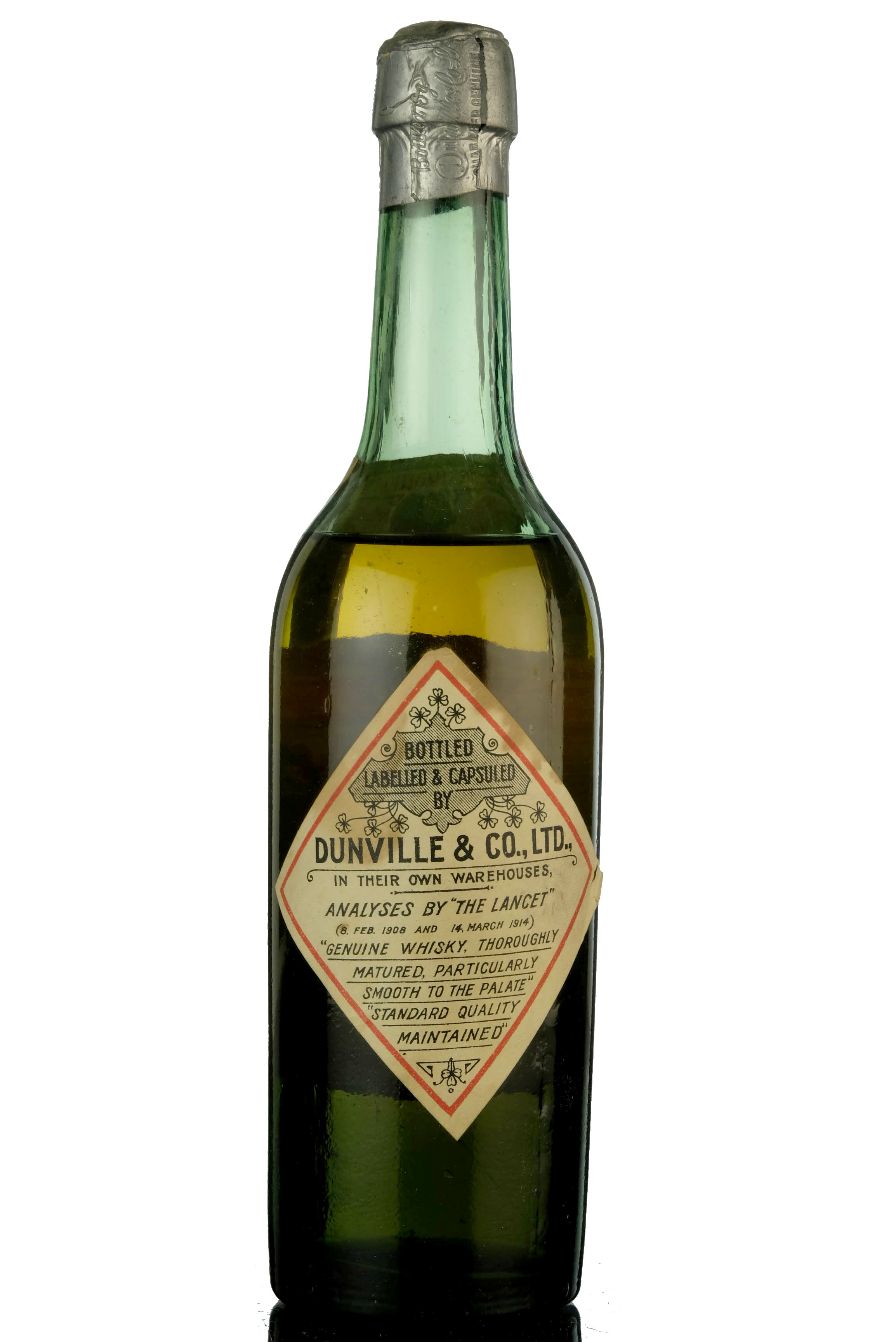dunvilles very rare - old irish whisky - circa 1915