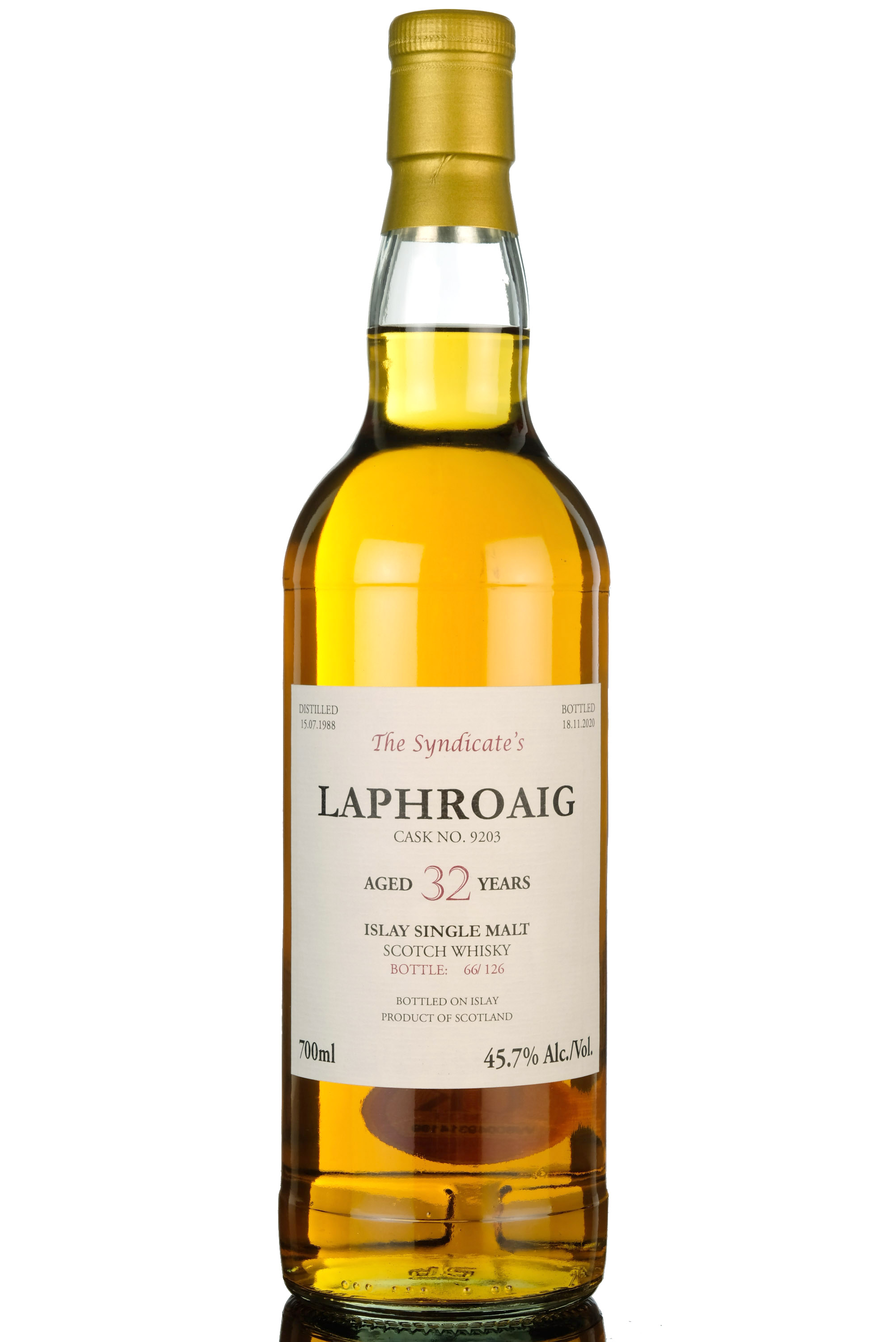 laphroaig 1988-2020 - 32 year old - the syndicate - 126 bottles