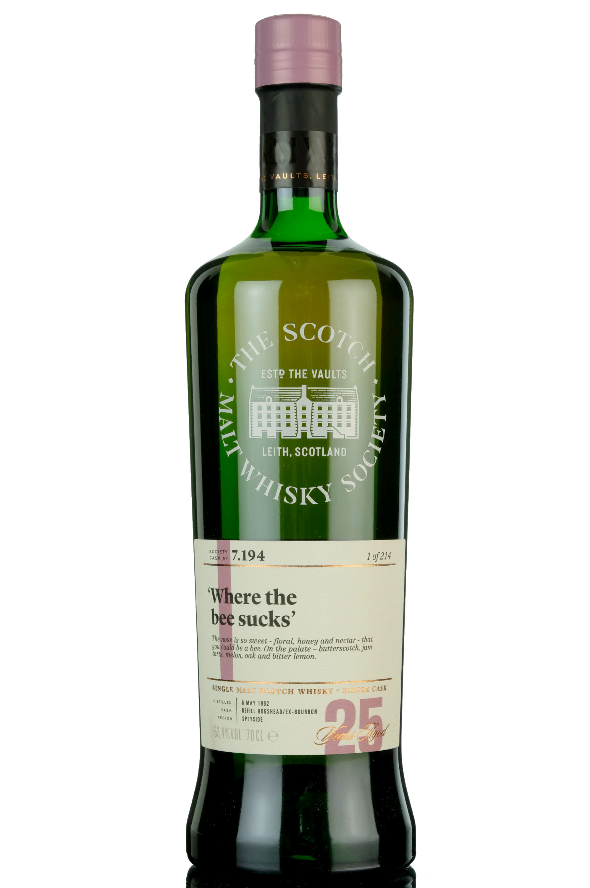 longmorn 1992 - 25 year old - smws 7.194 - where the bee sucks