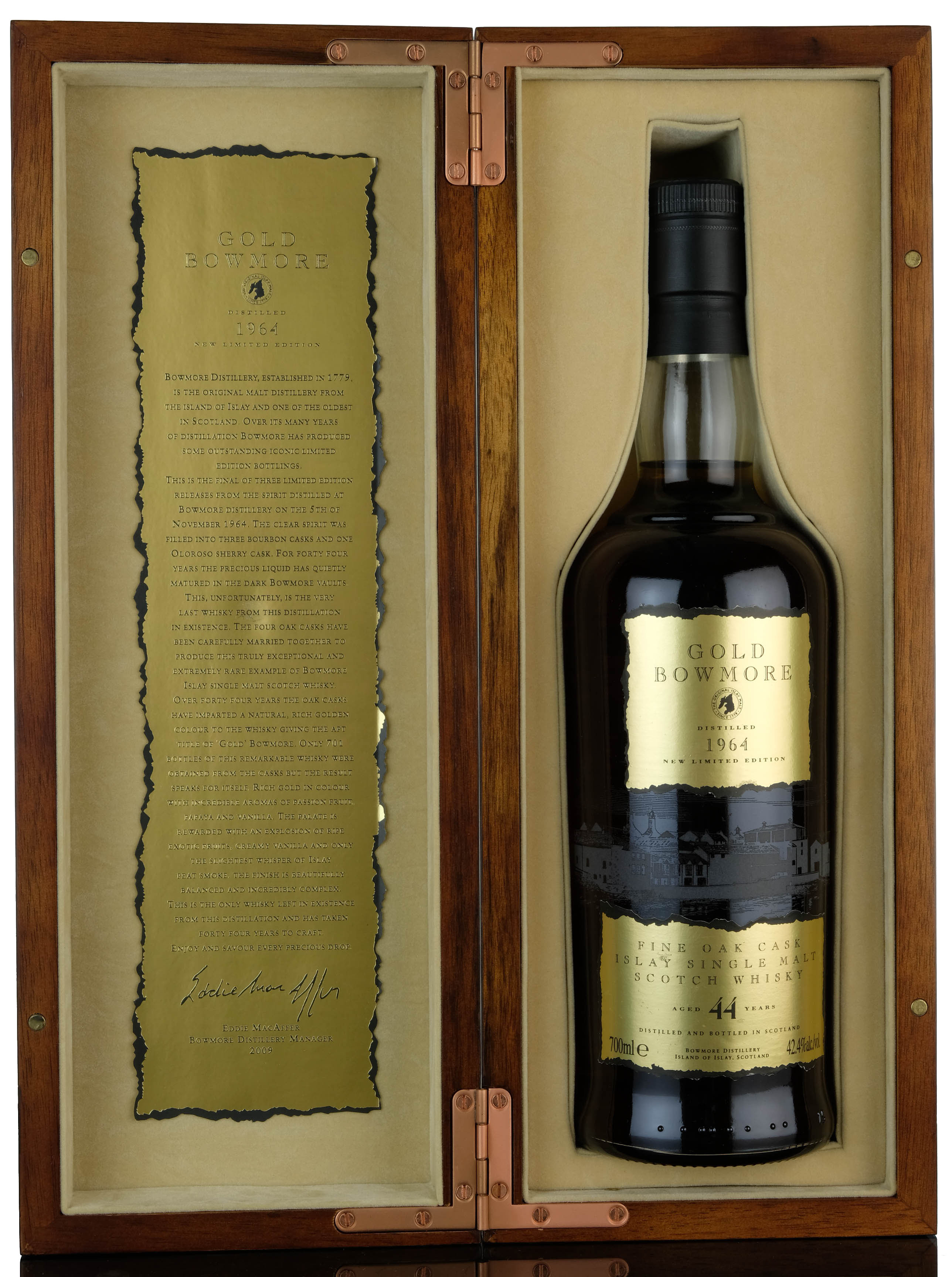 gold bowmore 1964 - 44 year old