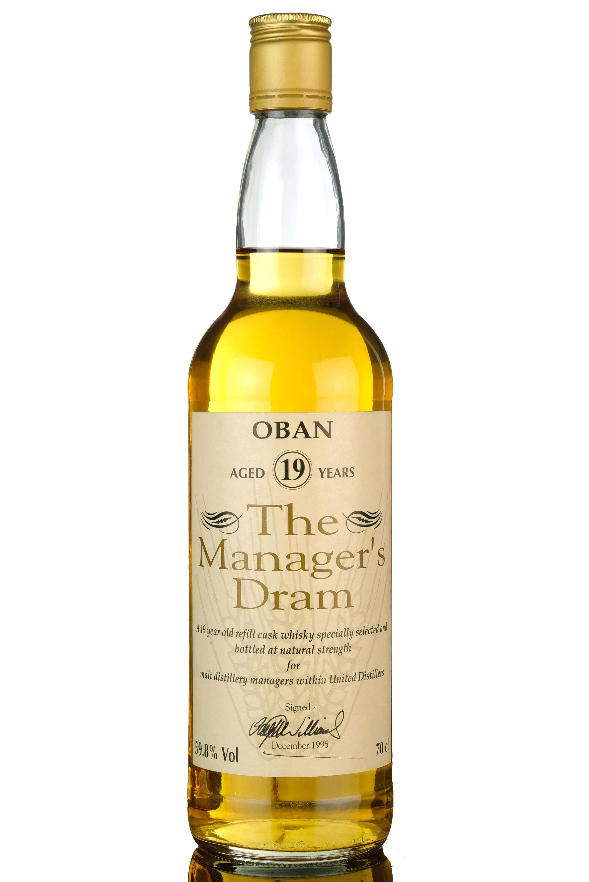 oban 19 year old - managers dram 1995