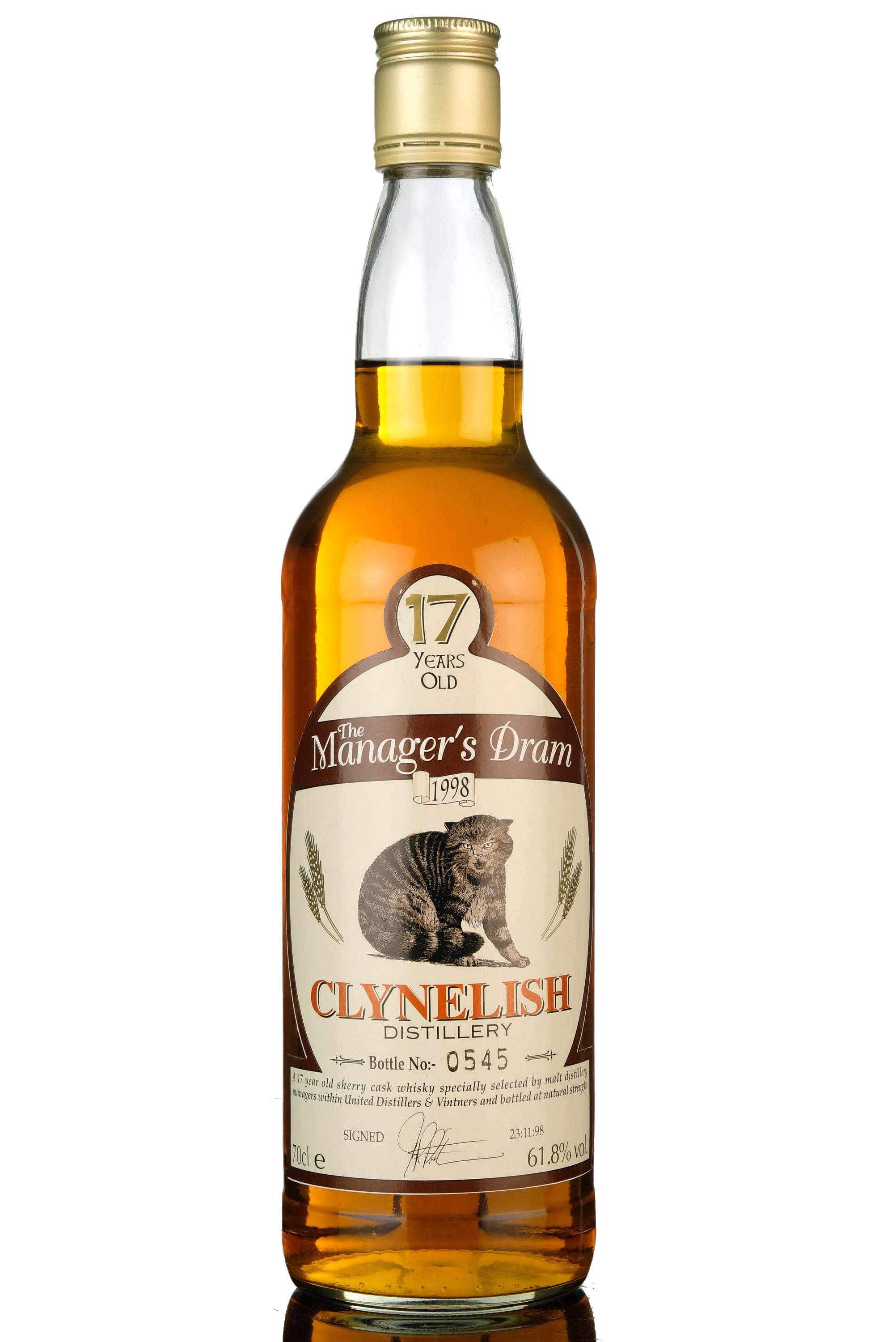 clynelish 17 year old - managers dram 1998
