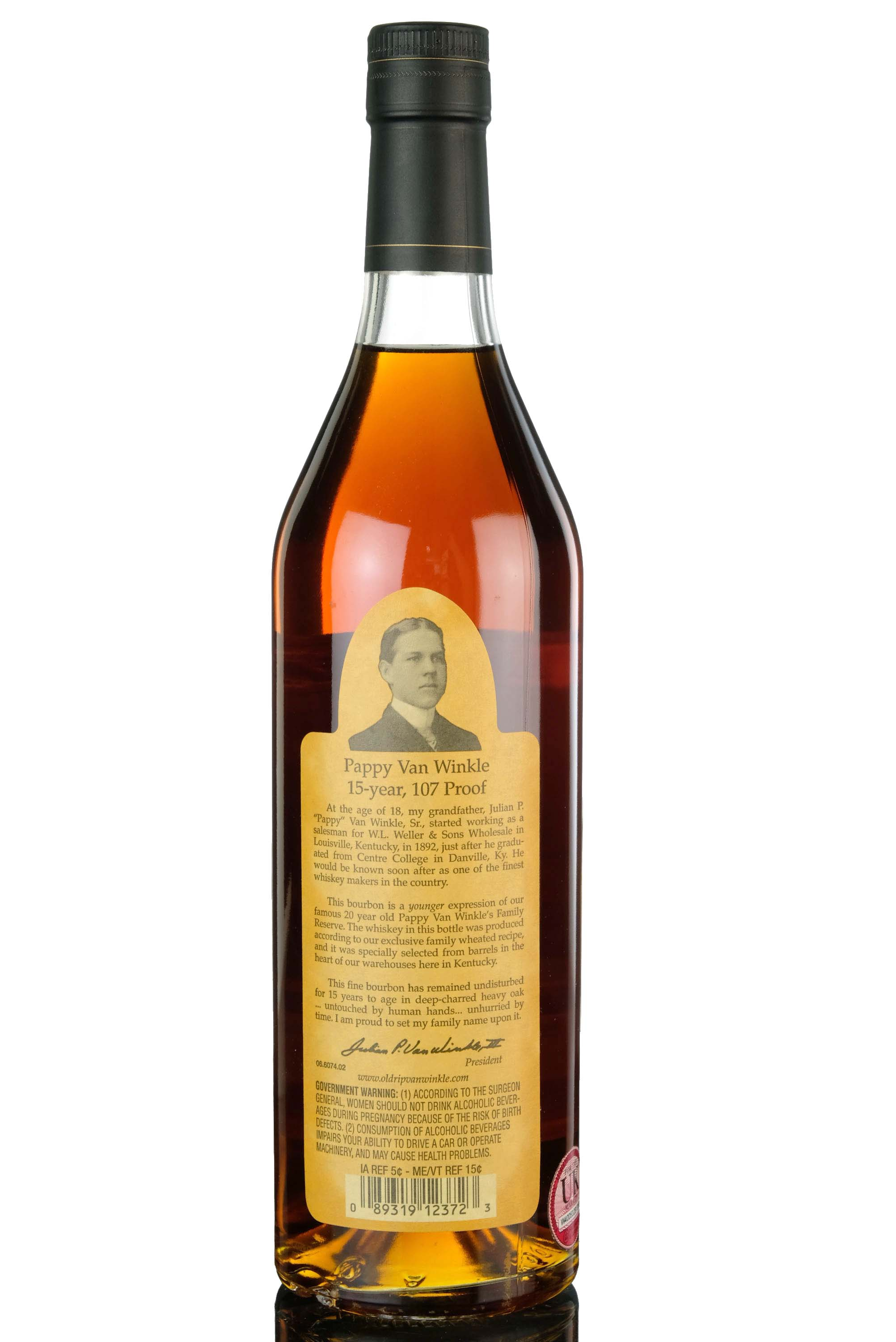 pappy van winkles family reserve - 15 year old - kentucky straight bourbon whiskey - 2020