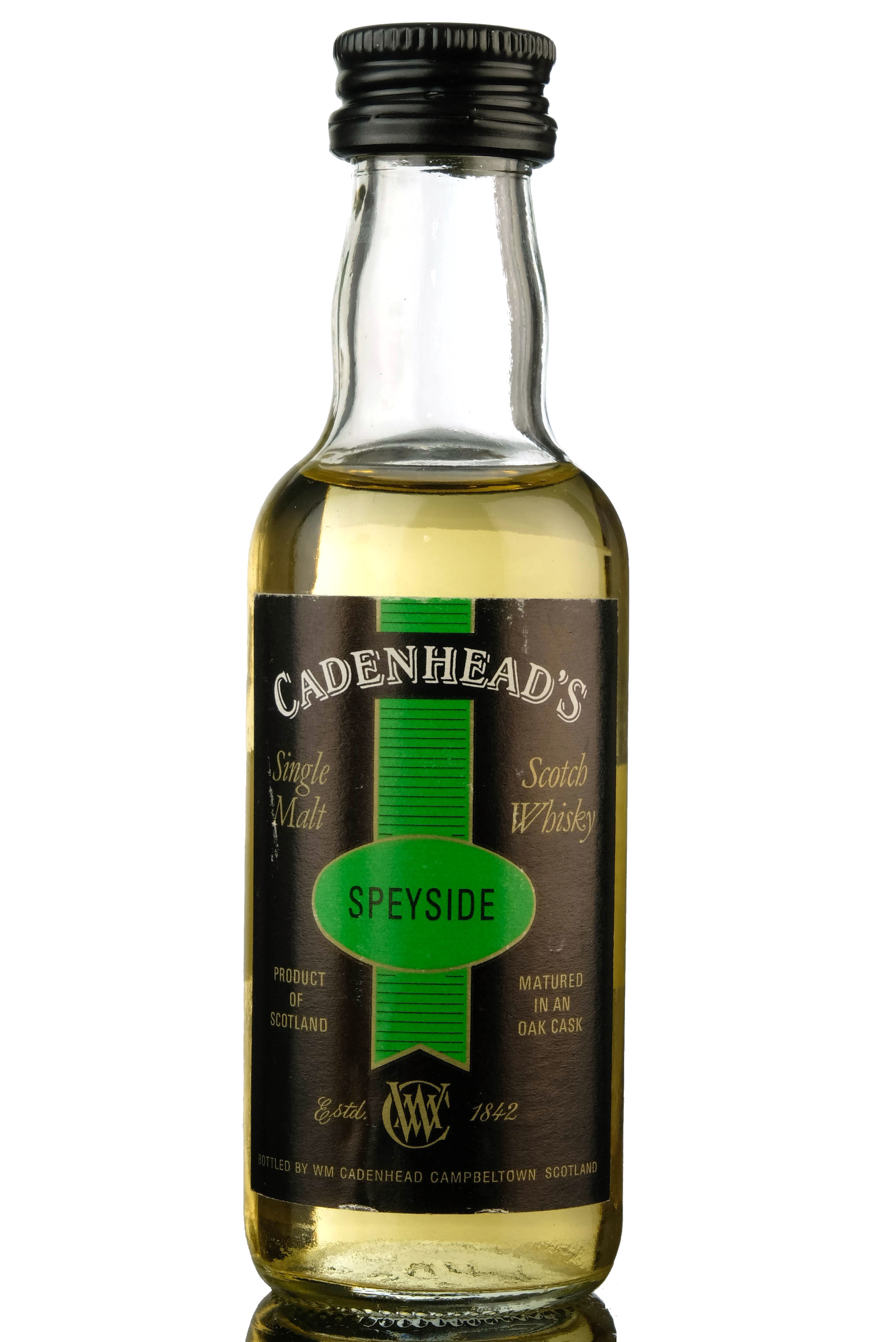 braes of glenlivet 10 year old - cadenheads miniature