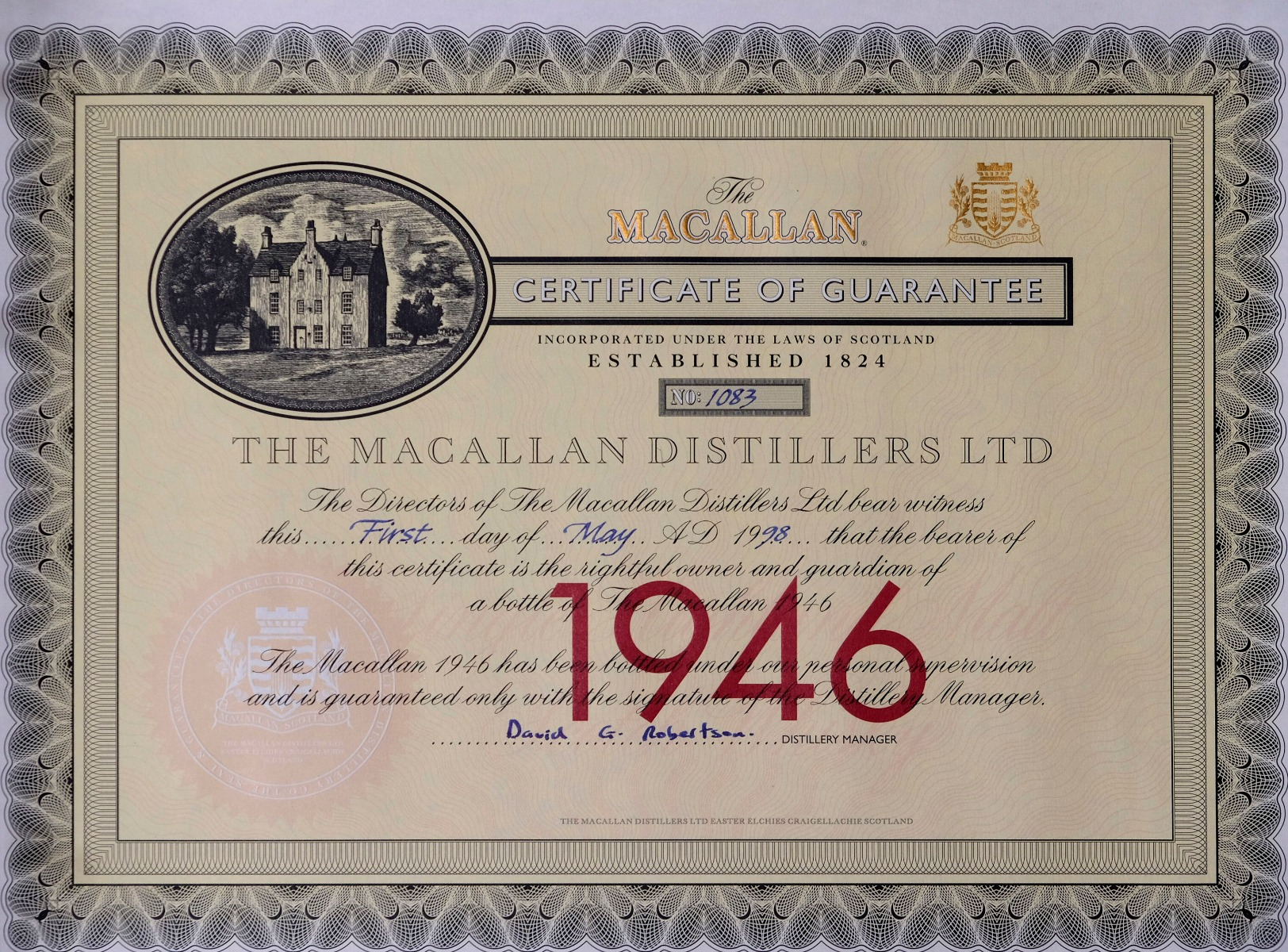 macallan 1946 - 52 year old - us market - 75cl