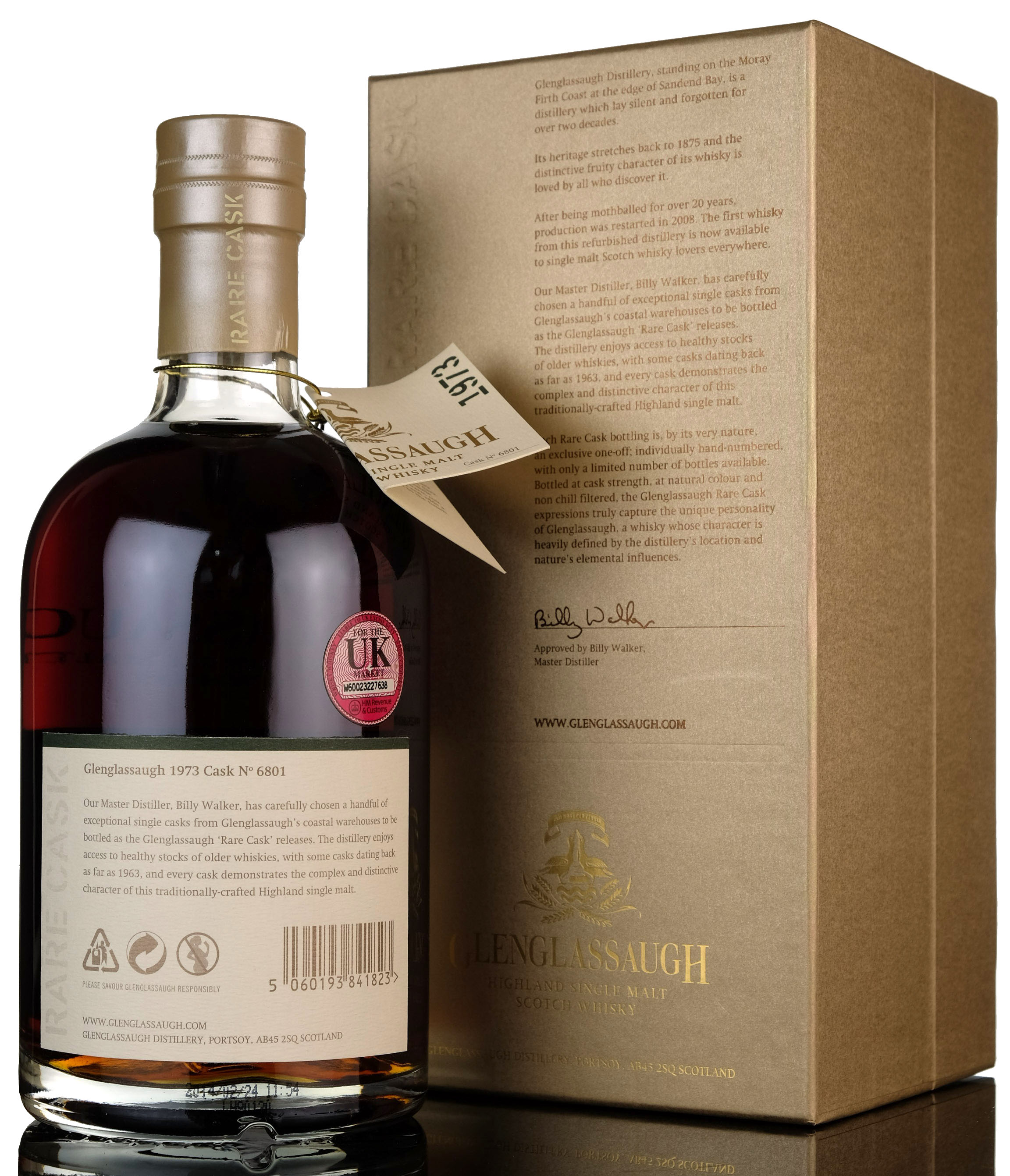glenglassaugh 1973-2014 - 40 year old - single cask 6801