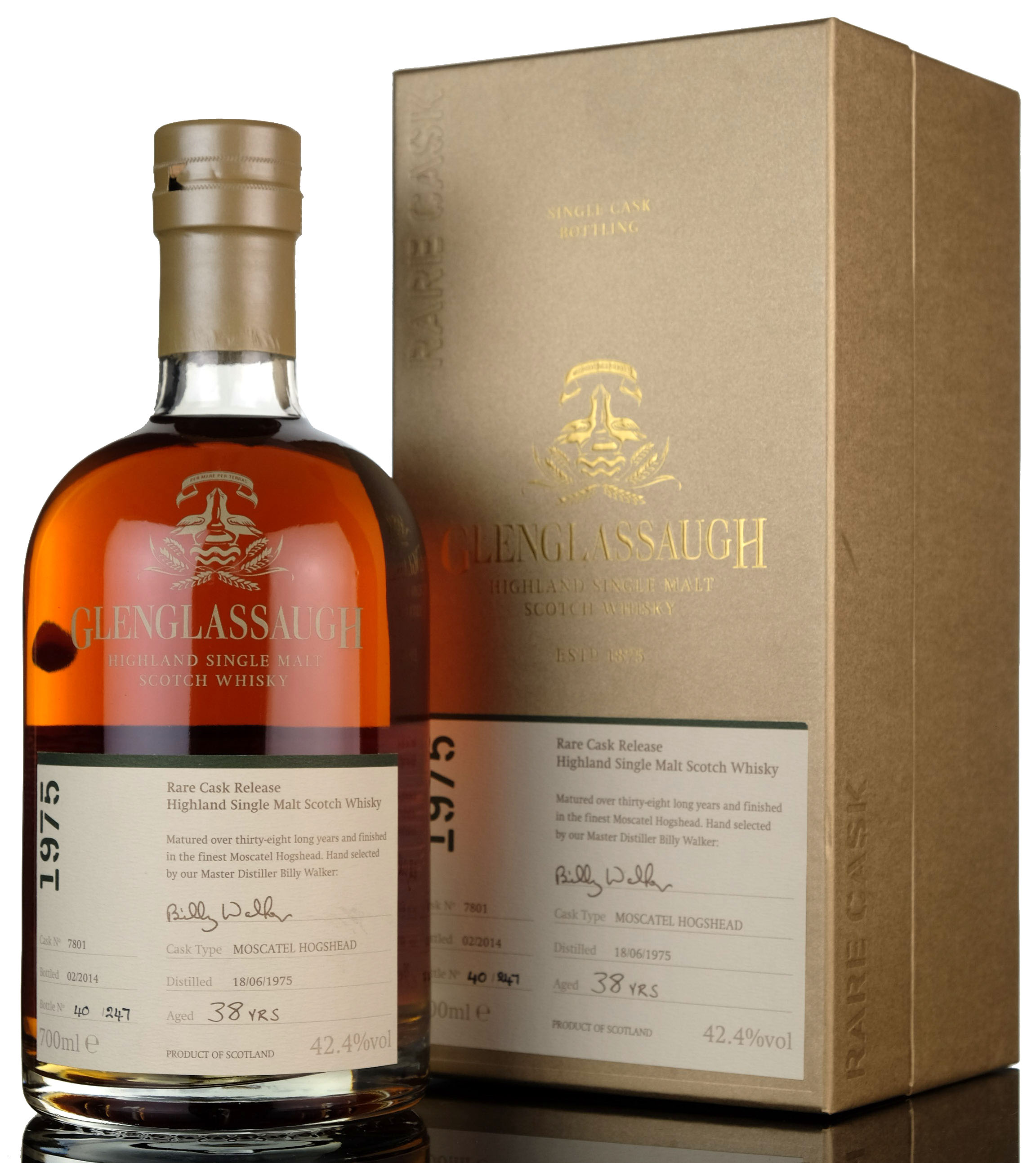glenglassaugh 1975-2014 - 38 year old - single cask 7801