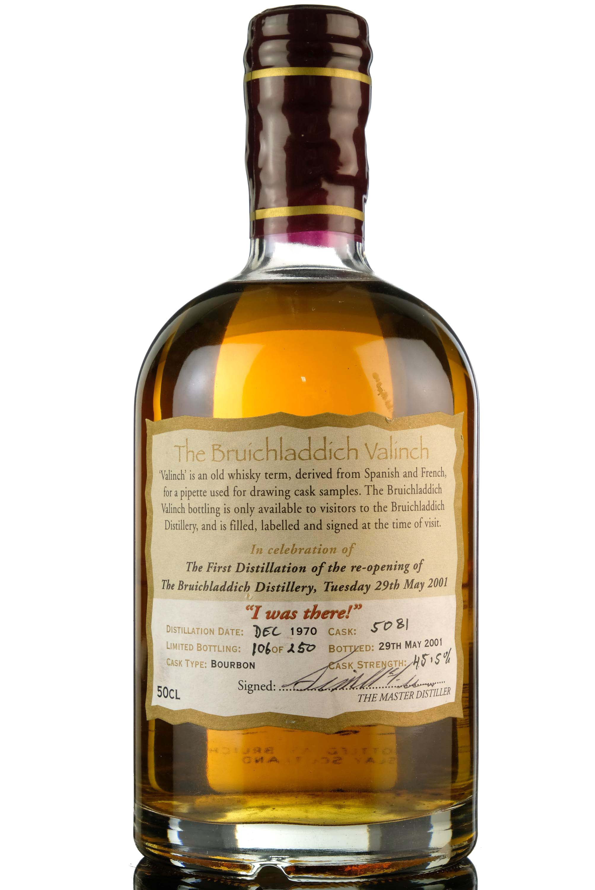 bruichladdich 1970-2001 - reopening i was there - single cask 5081