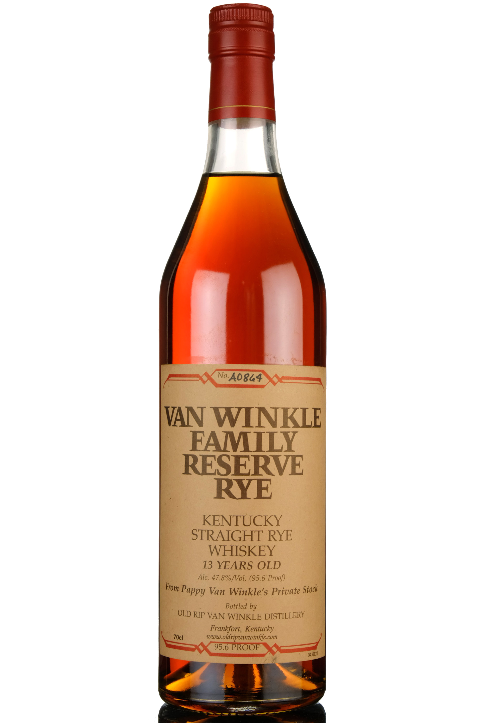 pappy van winkles family reserve - 13 year old - kentucky straight bourbon whiskey - circa 2008