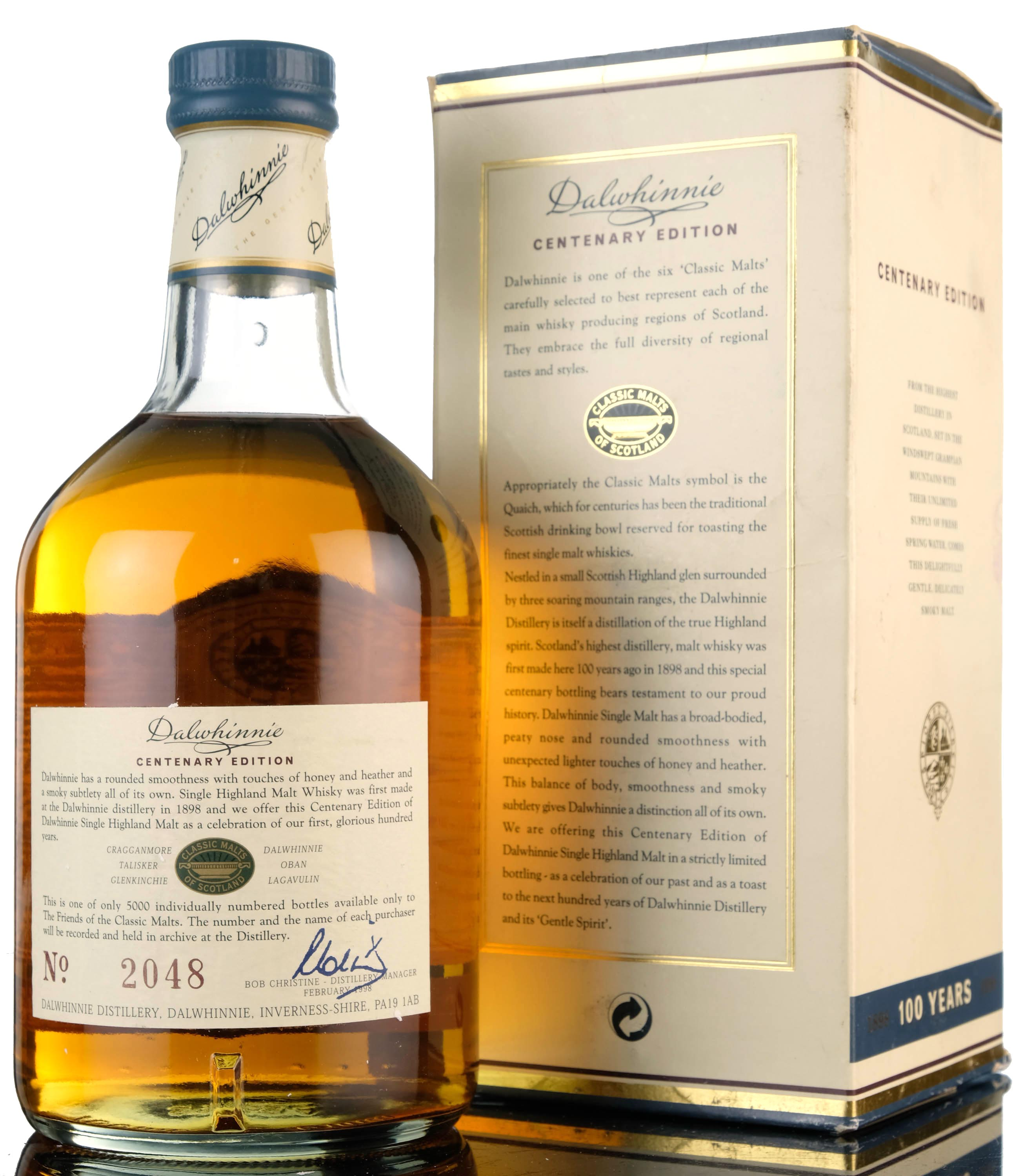 dalwhinnie 15 year old - centenary