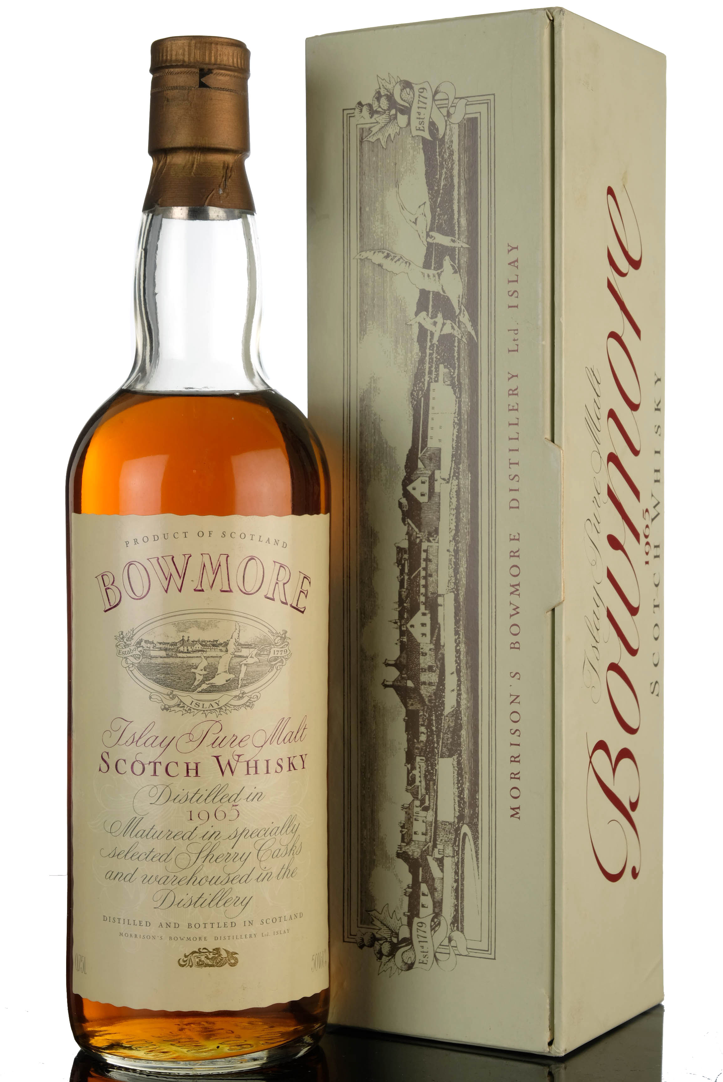 bowmore 1965 - sherry cask - vintage label