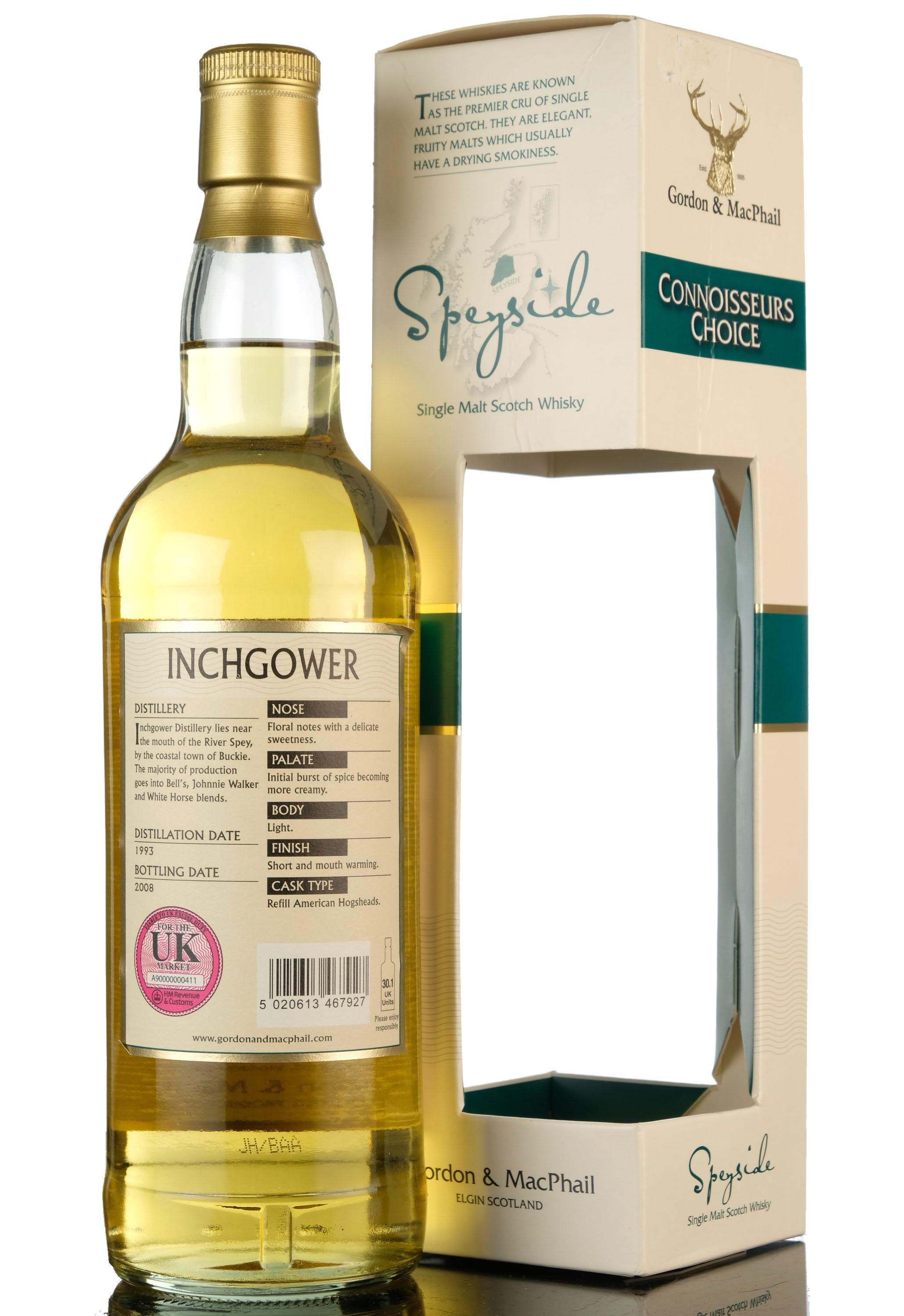 inchgower 1993-2008 - connoisseurs choice