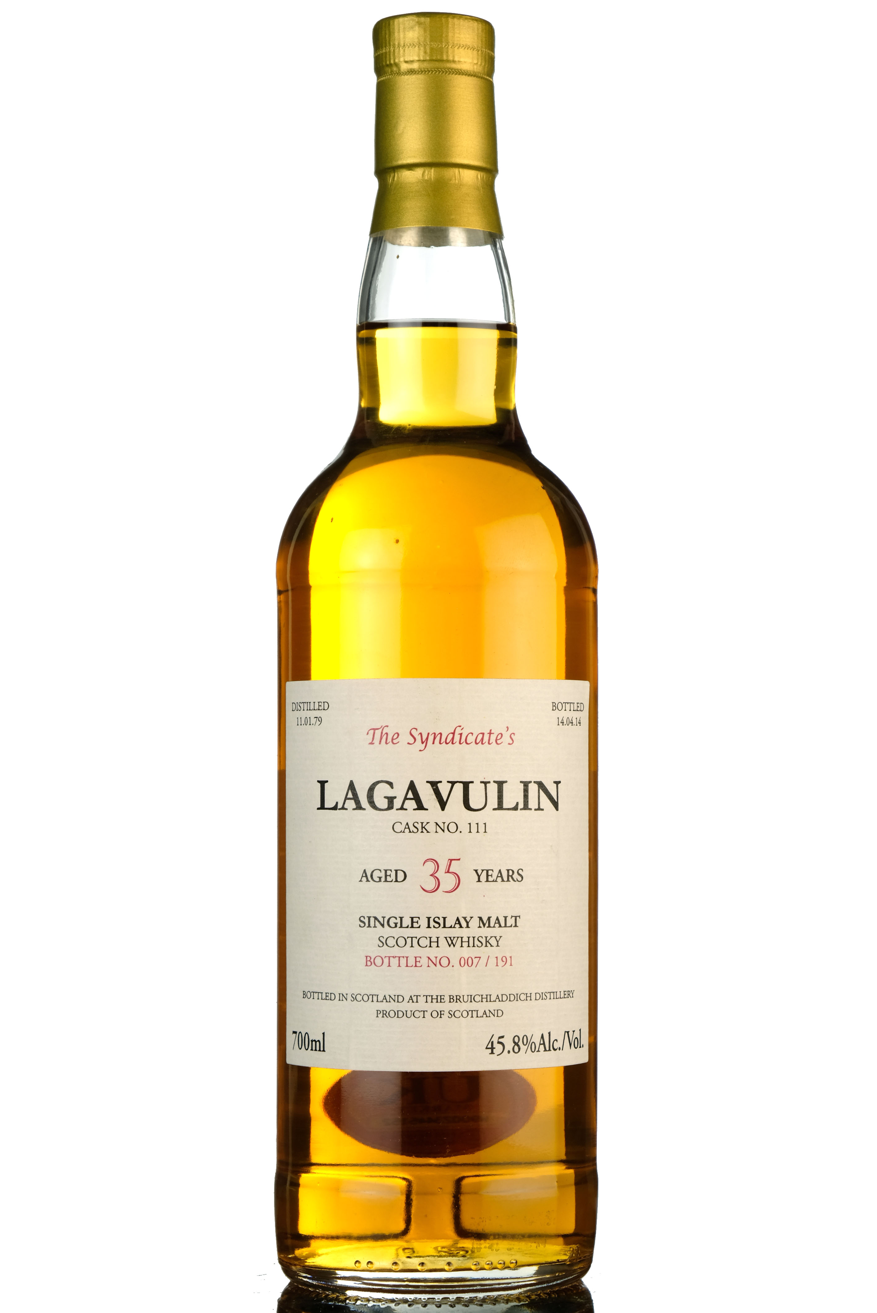 lagavulin 1979-2014 - 35 year old - the syndicate - 191 bottles