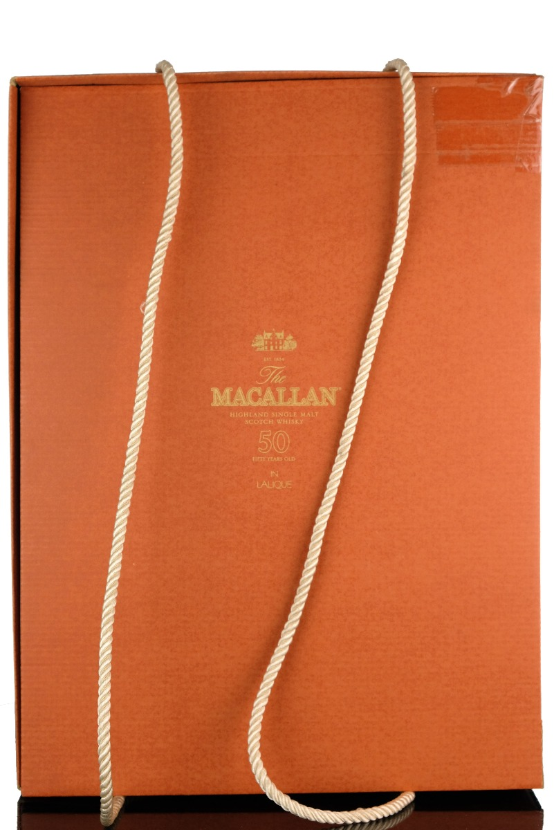 macallan 50 year old - lalique decanter - first release - 75cl