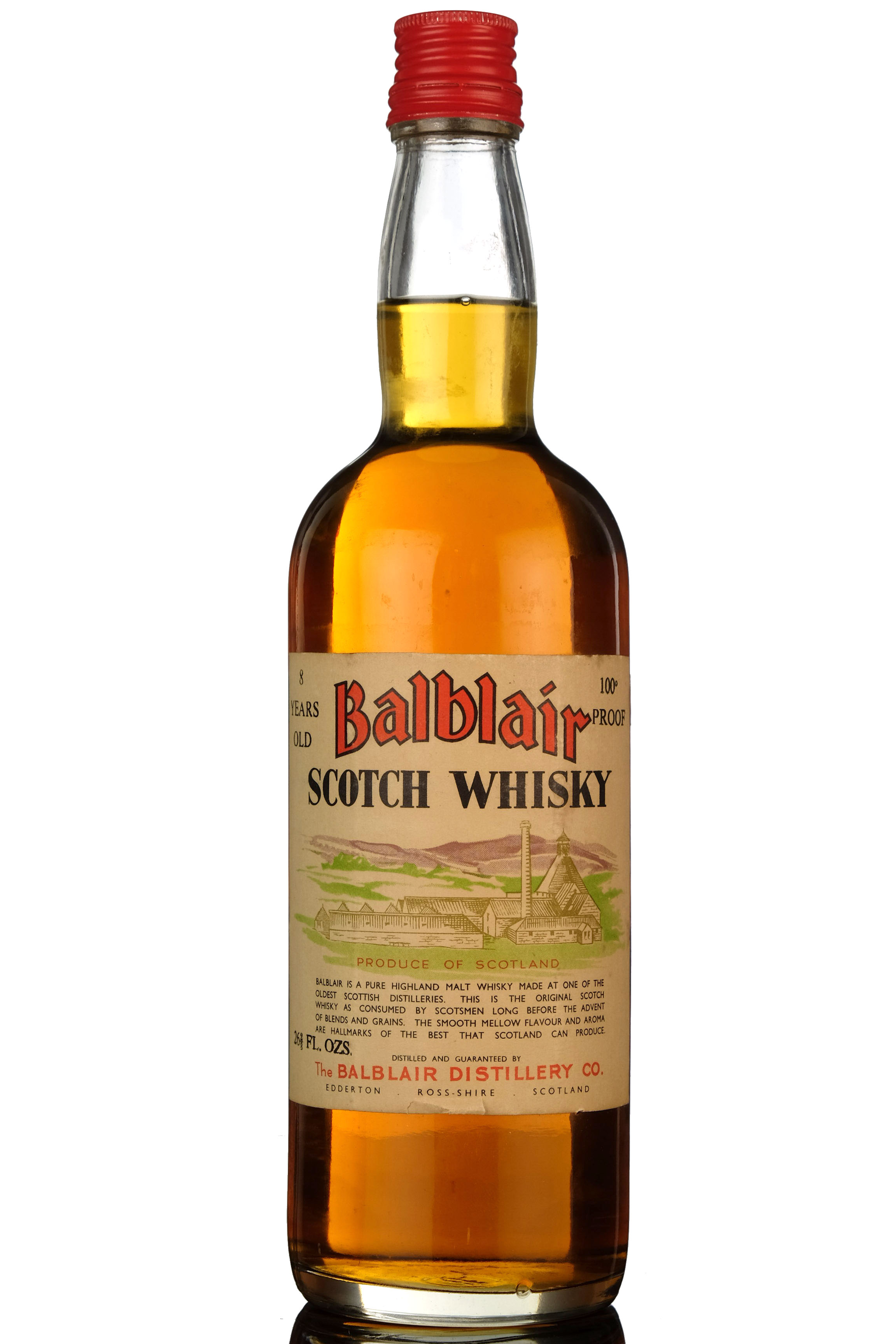 balblair 8 year old - 100 proof - early 1960s